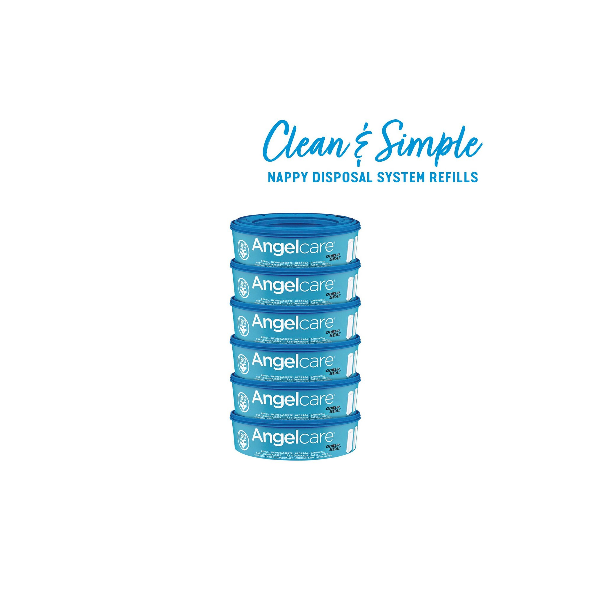 Image of Angelcare Nappy Disposal System Refill Cassettes