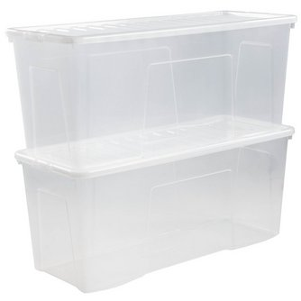 Set Of 2 Crystal 133l Box And Lid Studio