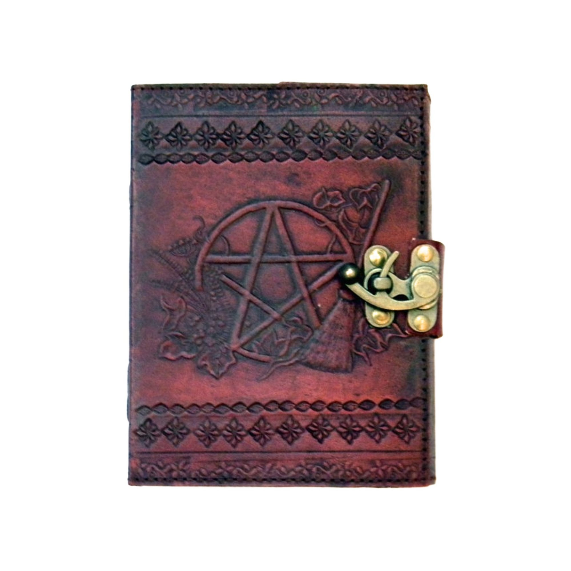 Image of Pentagram Leather Embossed Journal and Lock