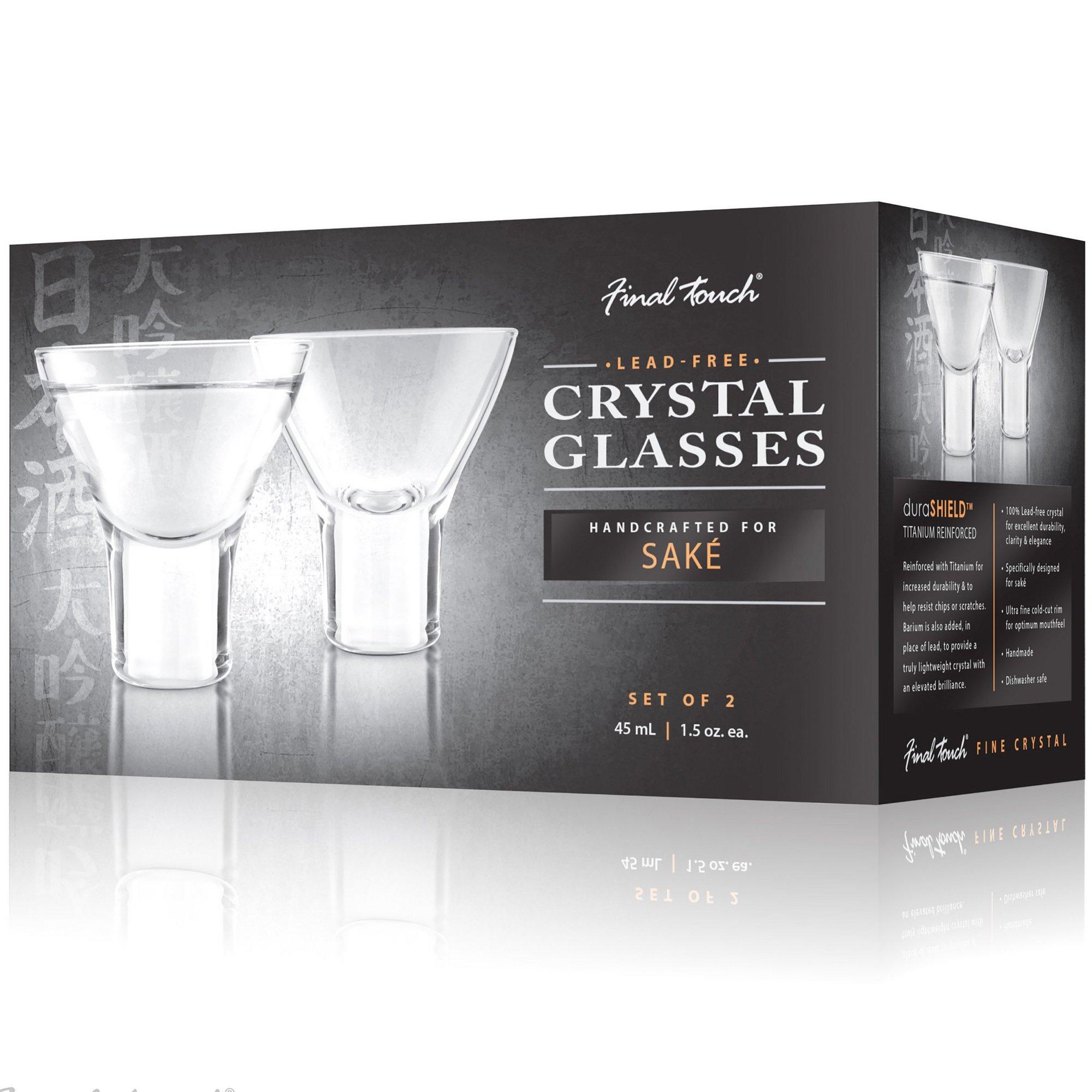 Image of Final Touch Durashield Sake Glasses 2 Pack