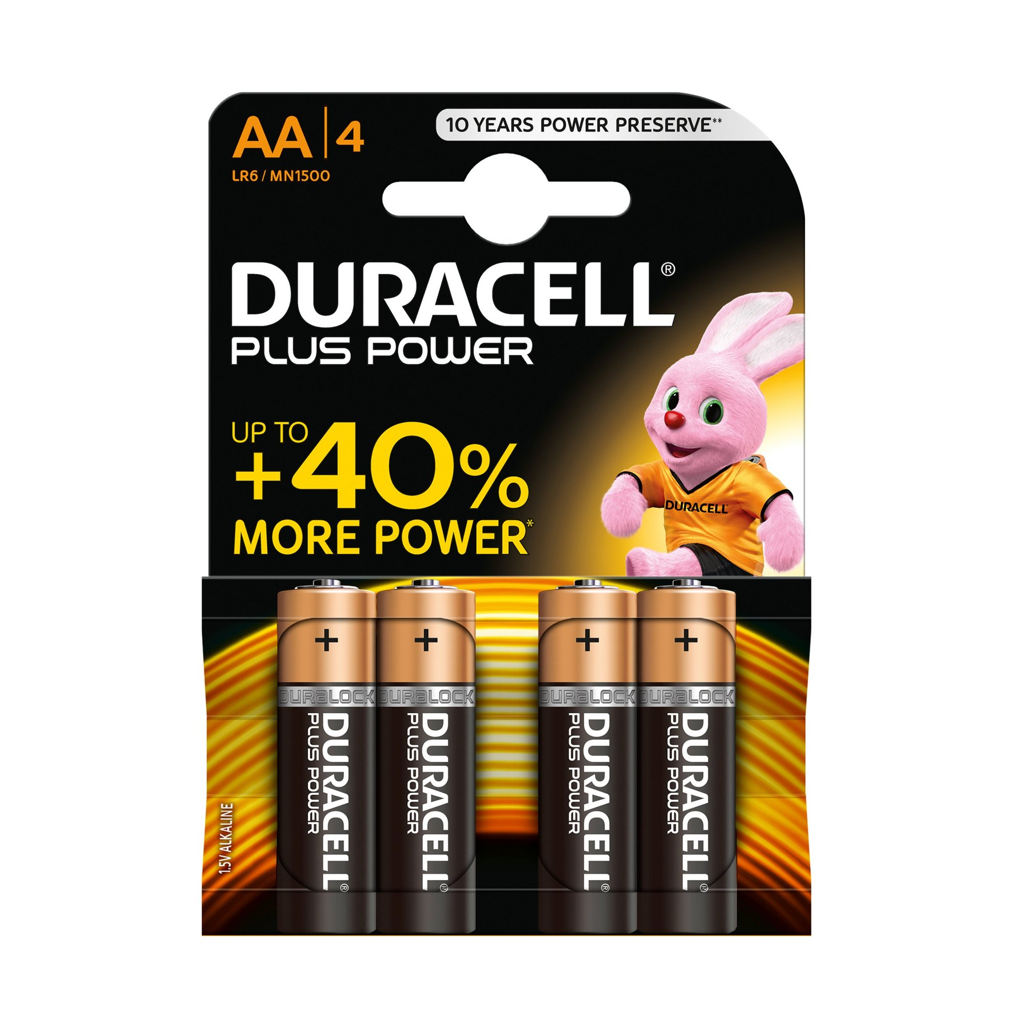 Image of Duracell 4 Pack AA Power Plus Batteries