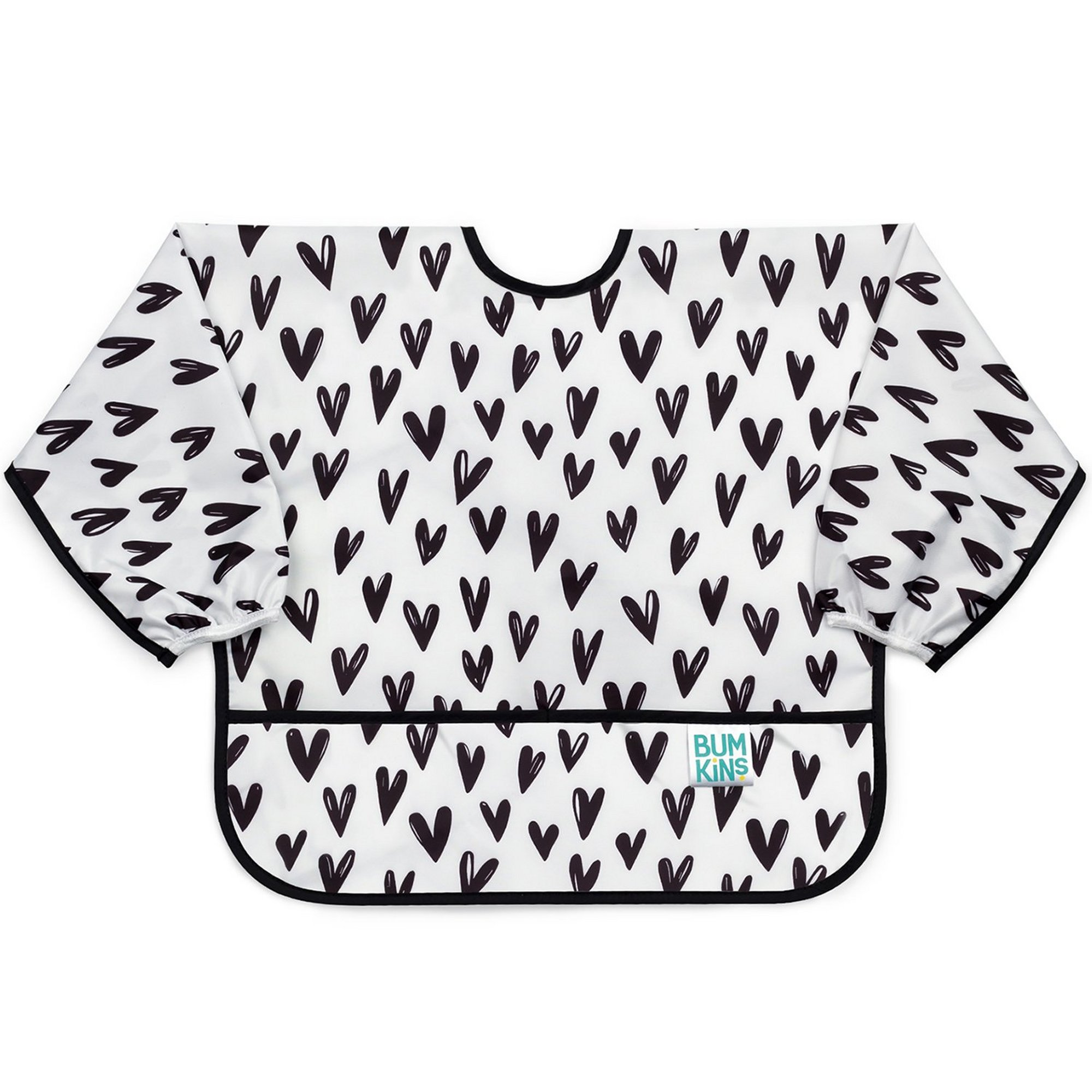 Image of Hippychick Bumkins Sleeved Bib - Hearts