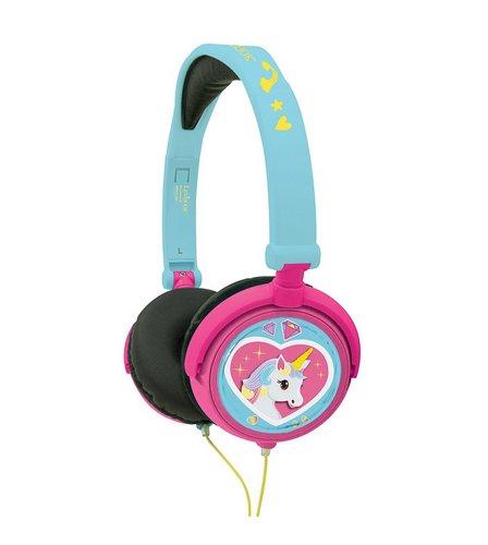 Lexibook Unicorn Foldable Stereo Headphones with Volume Limiter