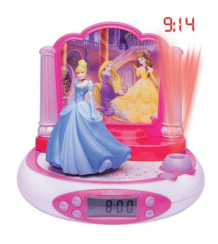 Lexibook Disney Princess Projector Alarm Clock with Radio