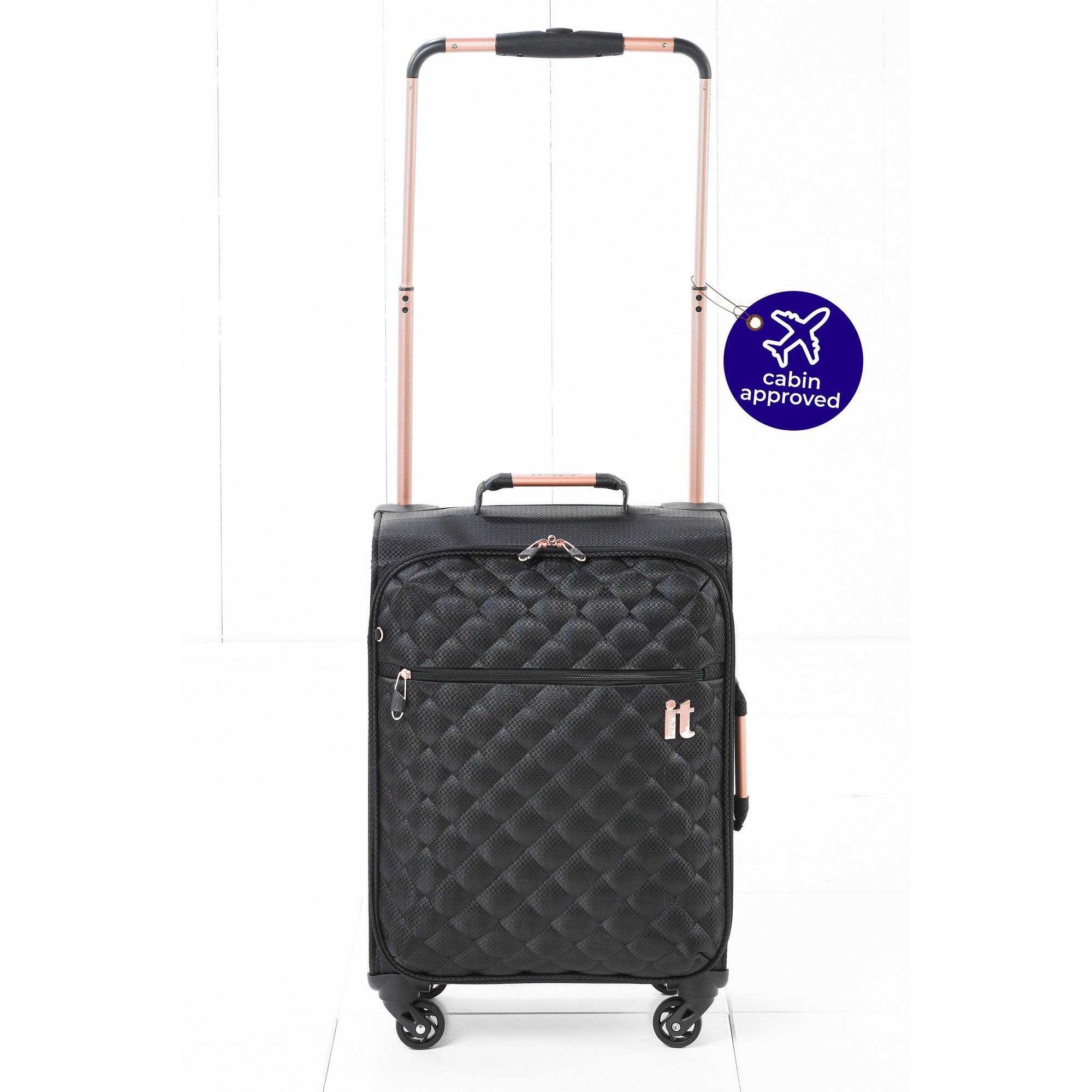 Image of Worlds Lightest Black Quilted Suitcase