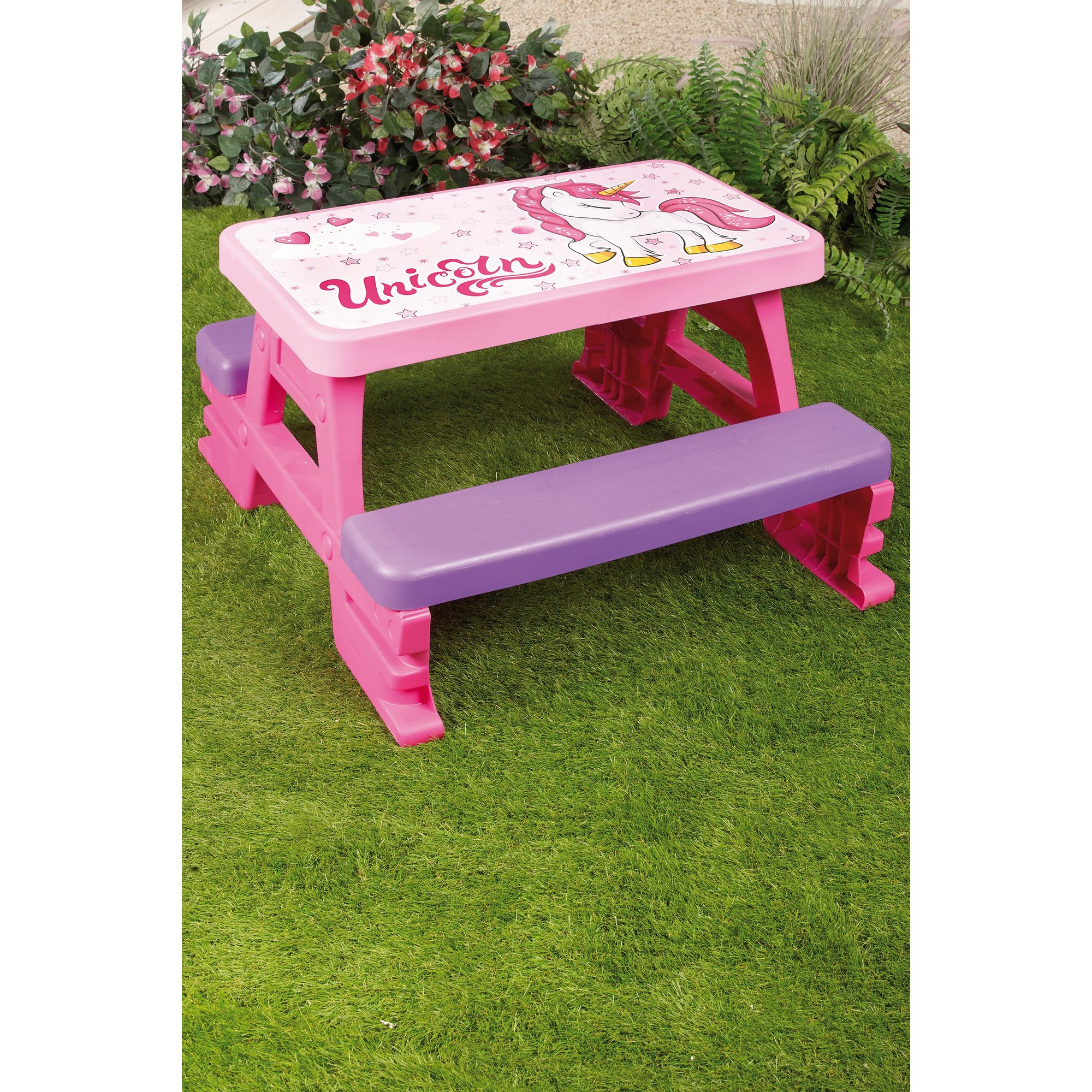 Image of Pink Unicorn Picnic Table