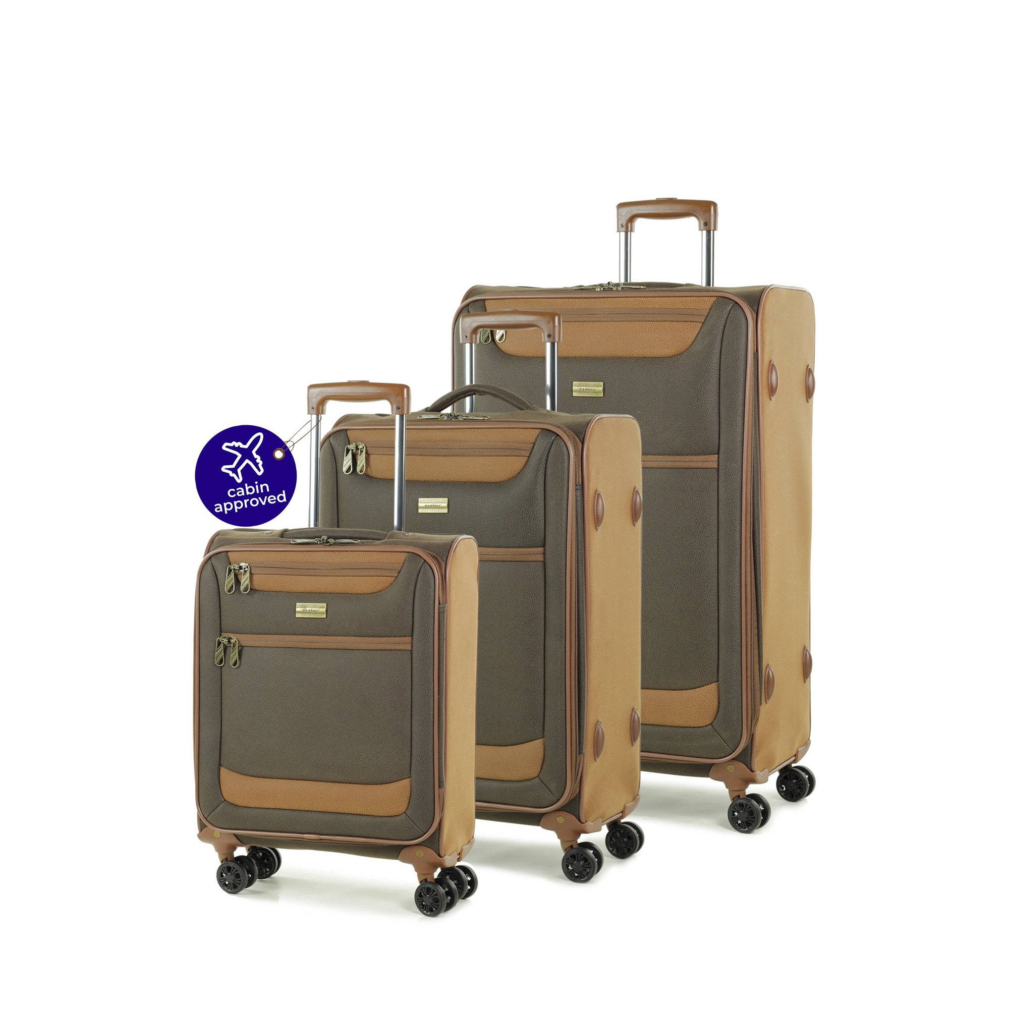 Image of Members by Rock - Boston 3 Piece Luggage Set