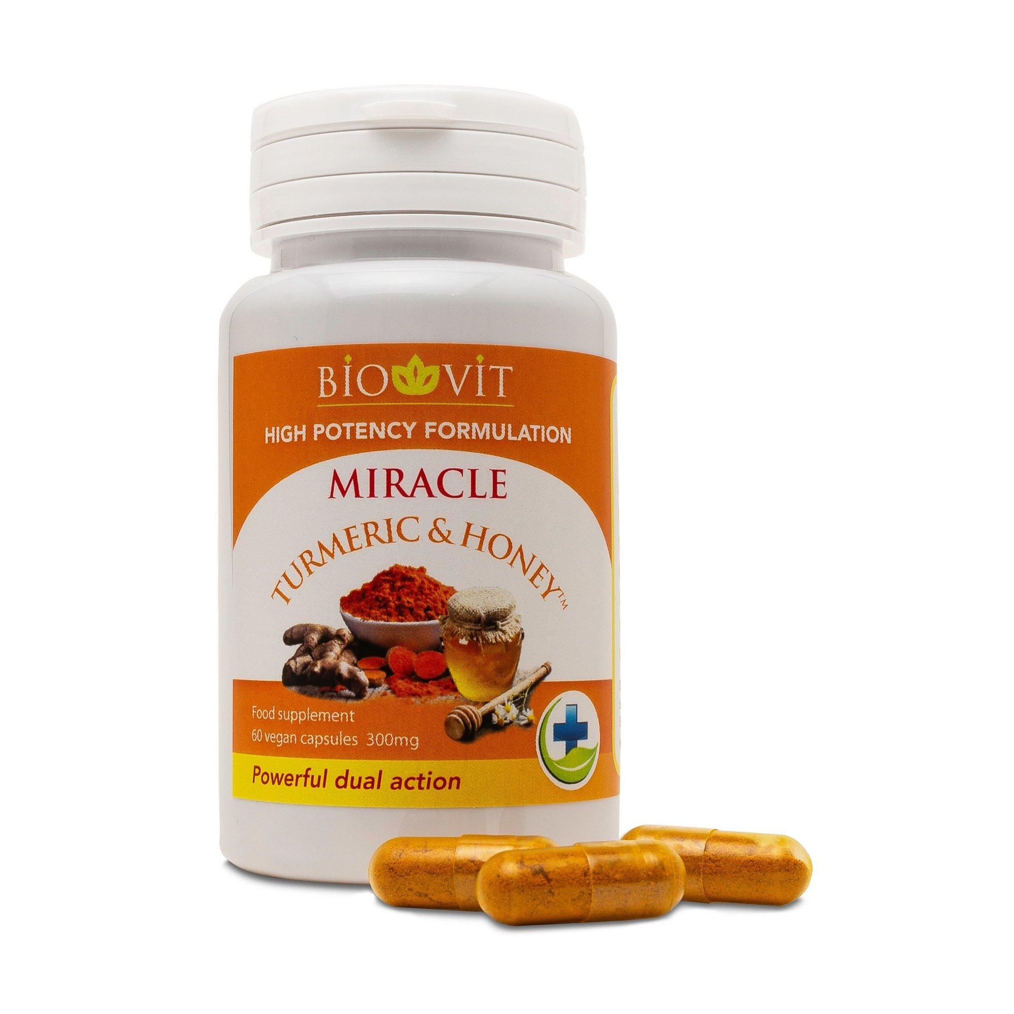 Image of Biovit Turmeric and Honey 60 Capsules