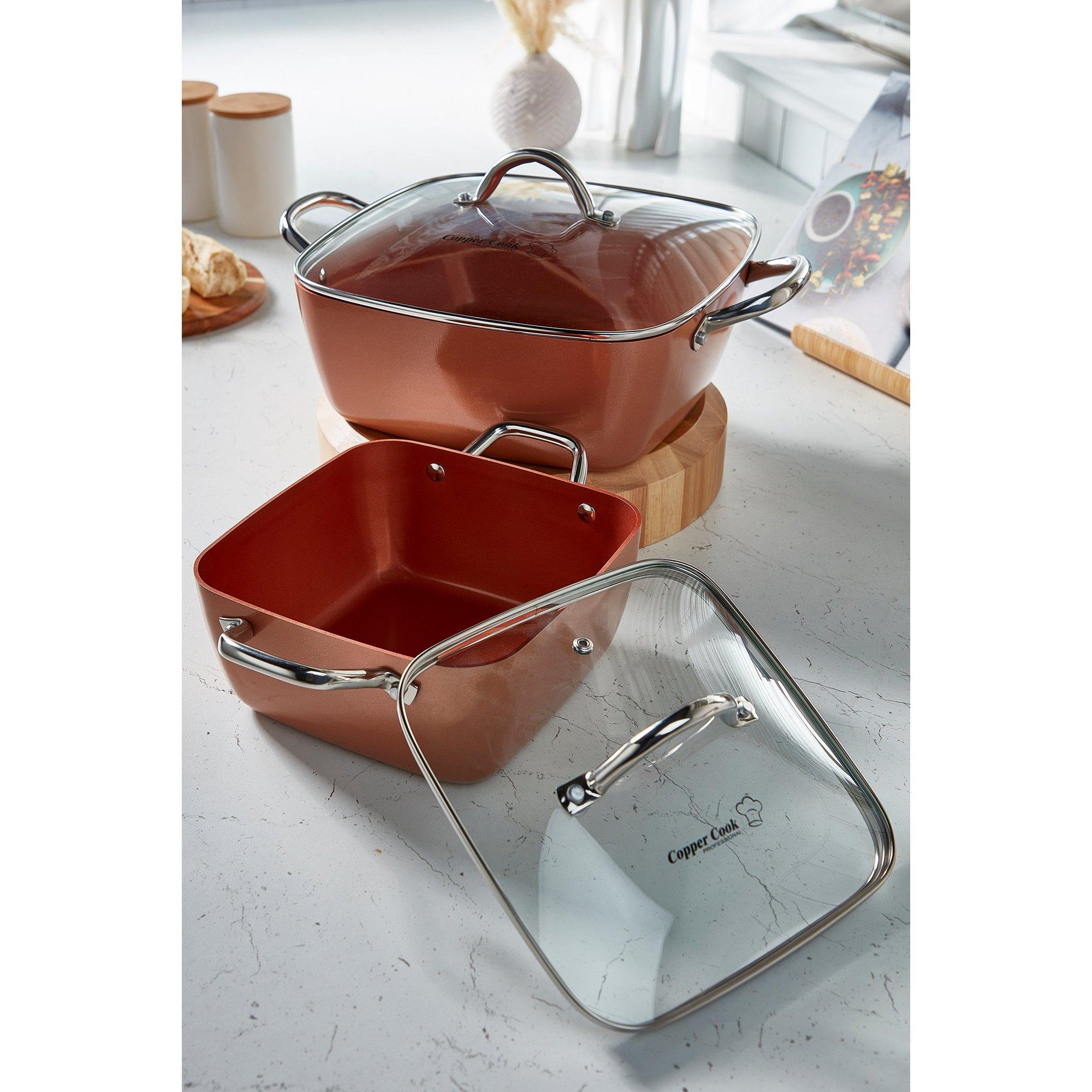 Image of Copper Cook 2-Piece Casserole Set