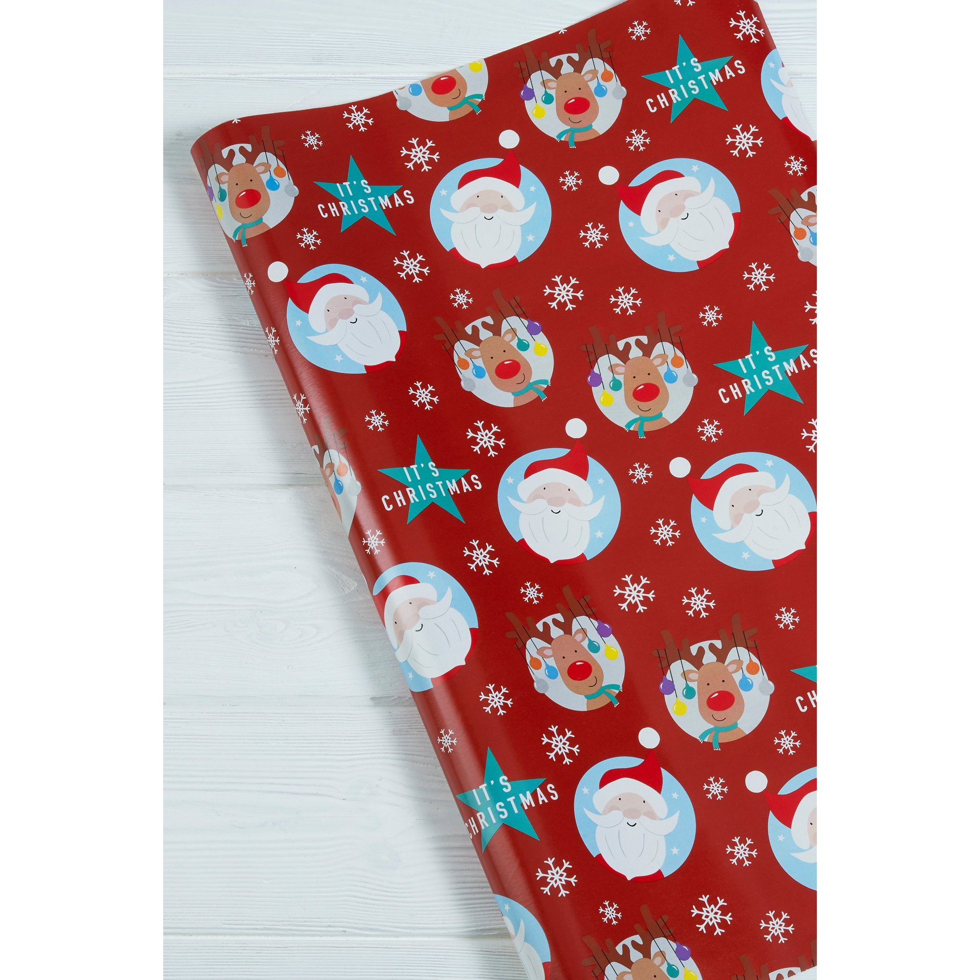 Image of 3m Santa and Rudolph Roll Wrap