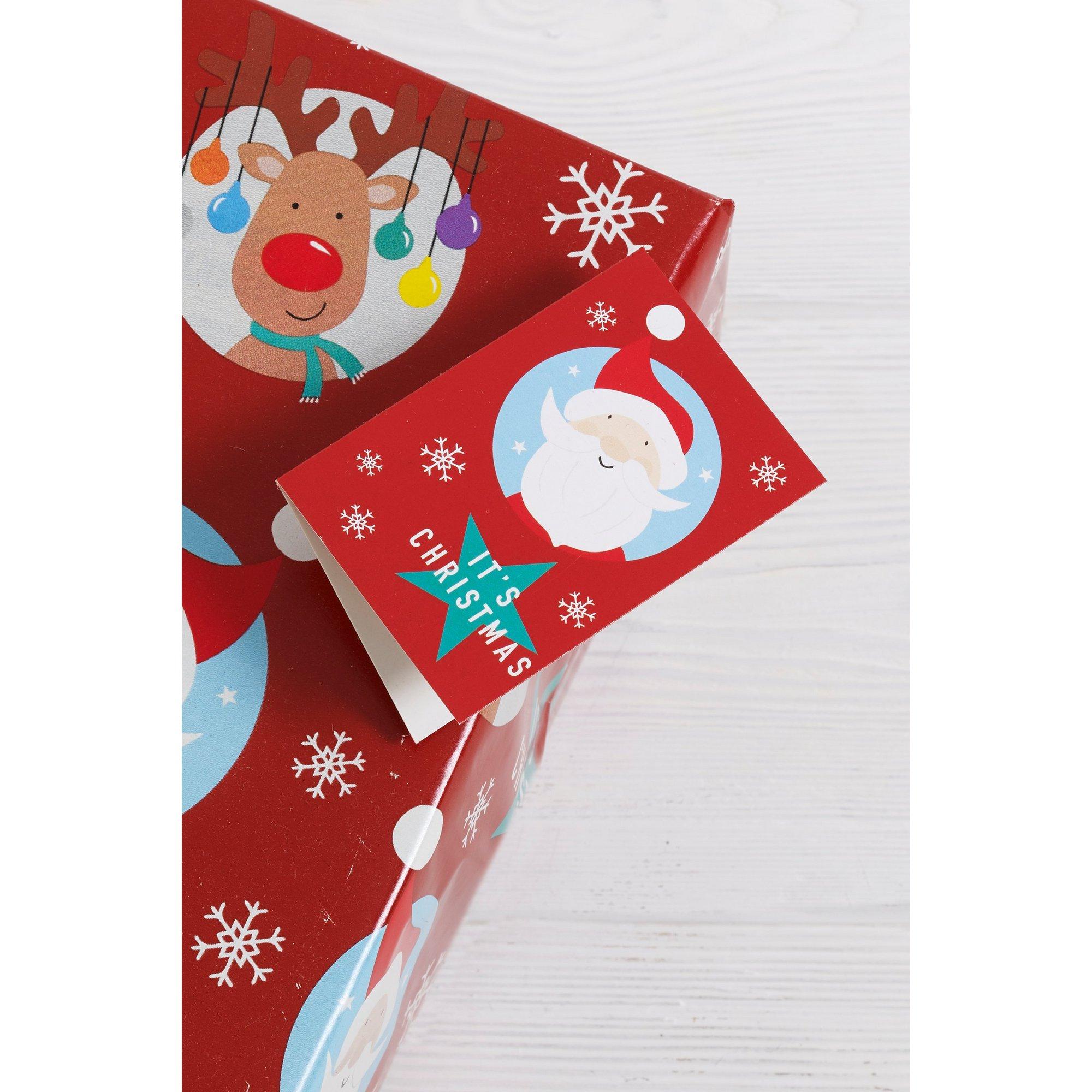 Image of 4 Santa and Rudolph Tags
