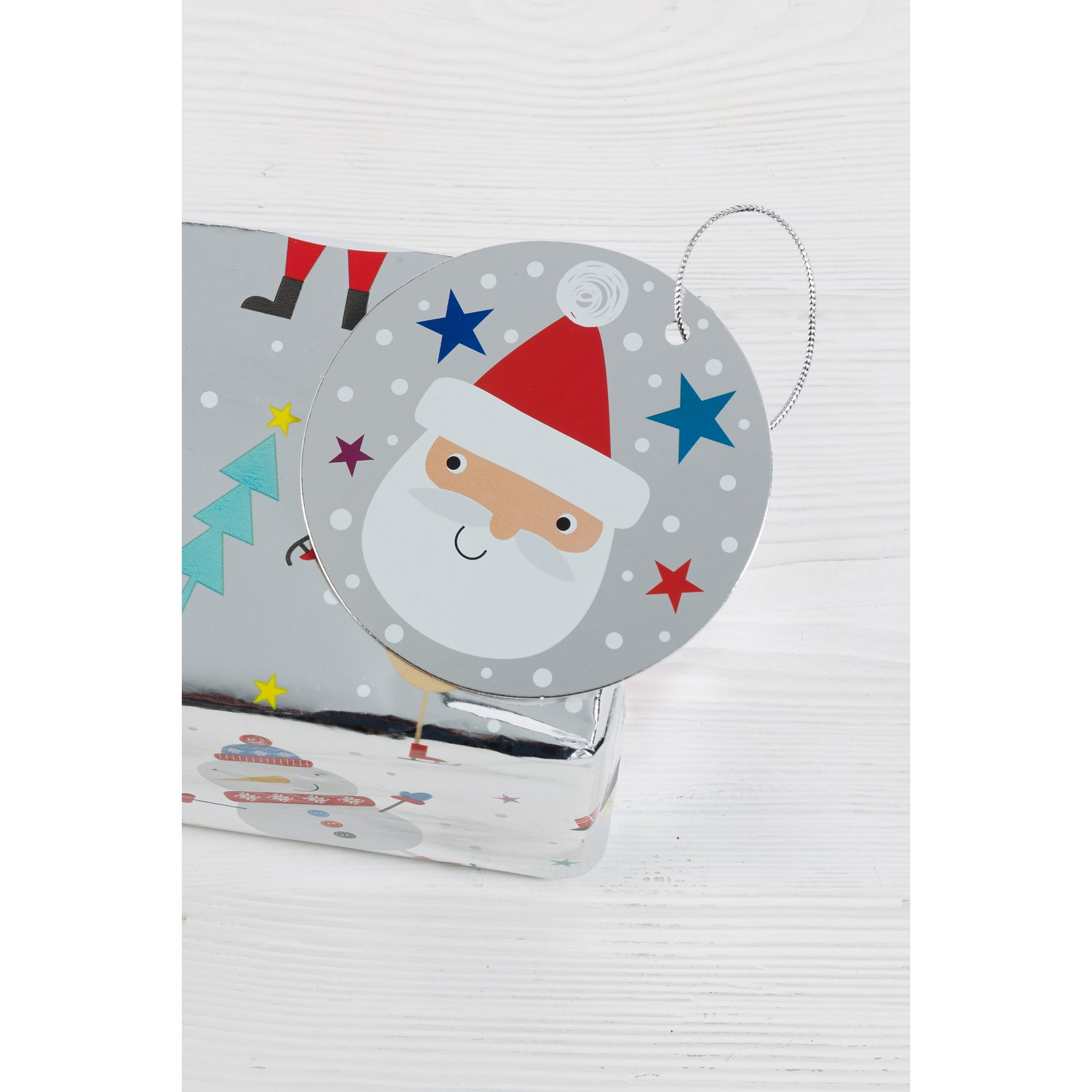 Image of 10 Foil Santa and Friends Gift Tags