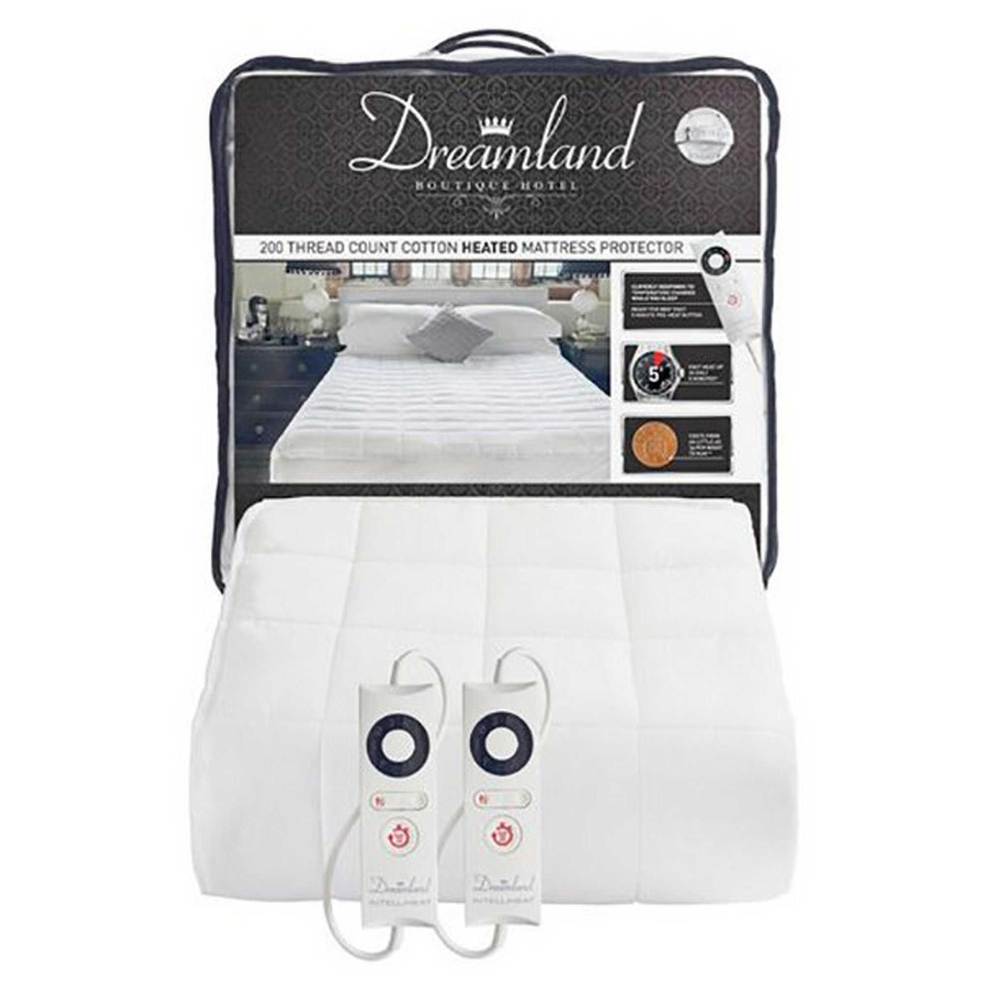 Image of Dreamland Boutique Dual Heated Mattress Protector