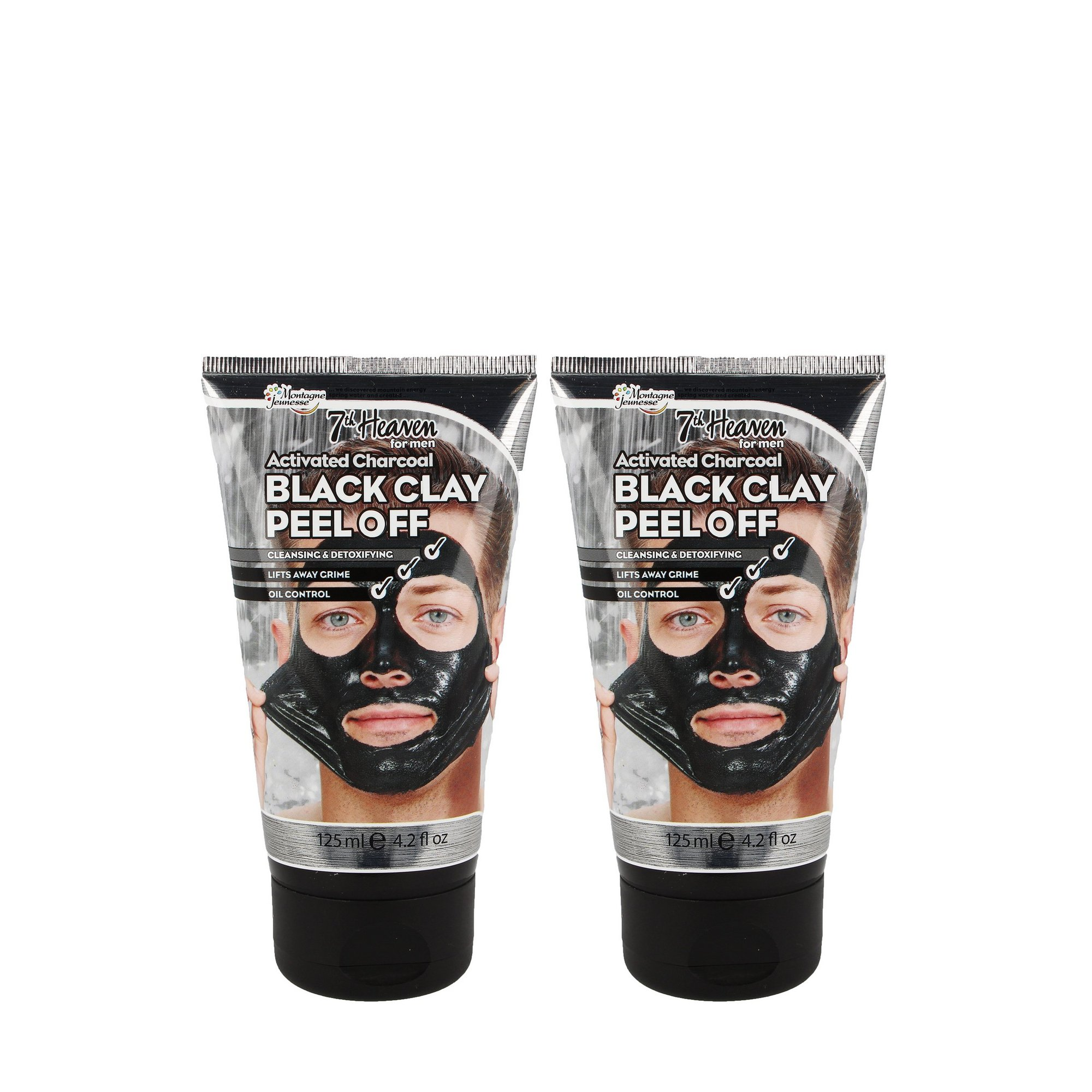 Image of Montagne Jeunesse Charcoal Clay Peel off Mask for Men