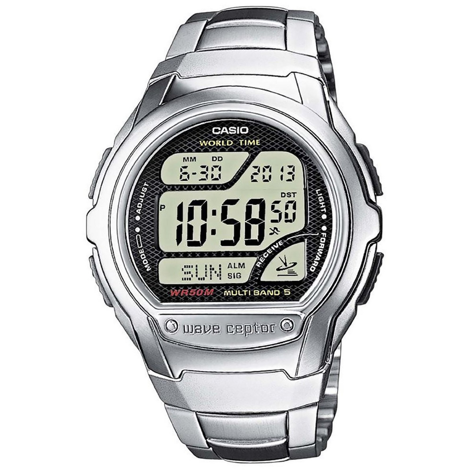 Image of Casio Mens Wave Ceptor Radio Controlled Watch