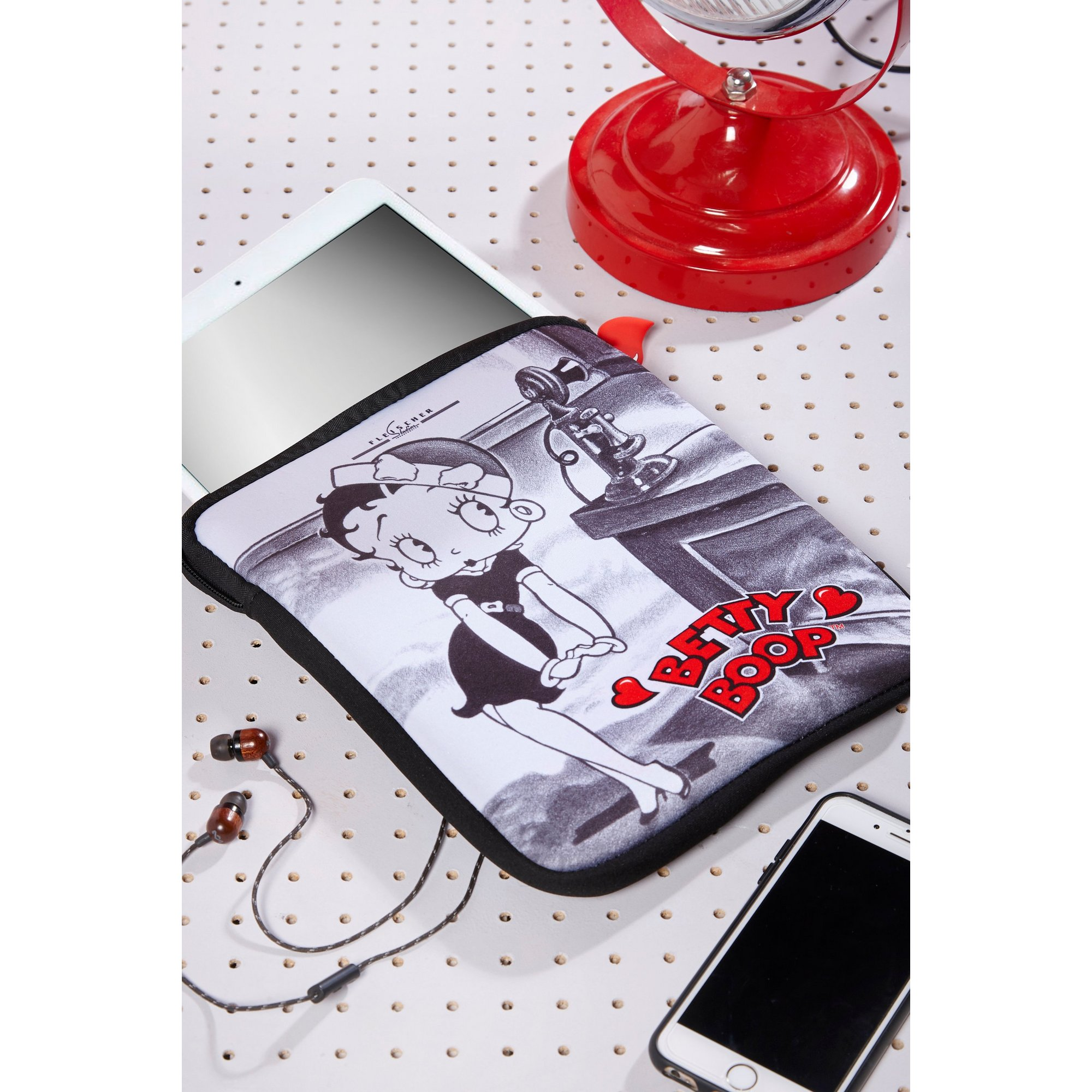 Image of Betty Boop Black and White iPad Case