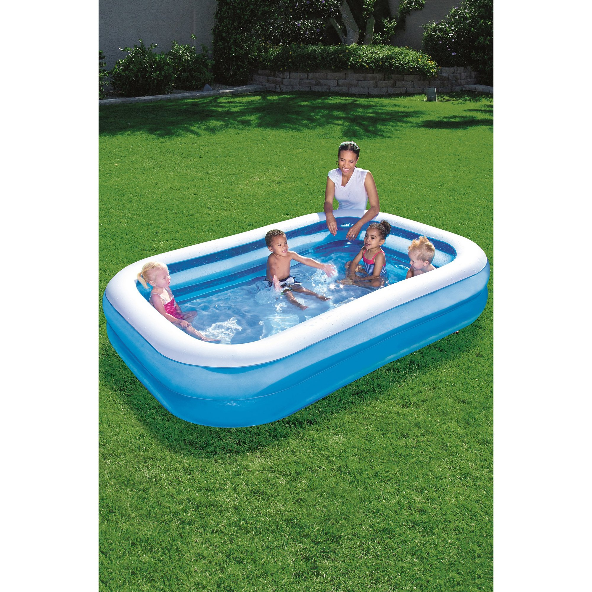 Image of Bestway 8ft 7 Inch Blue Rectangle Family Pool