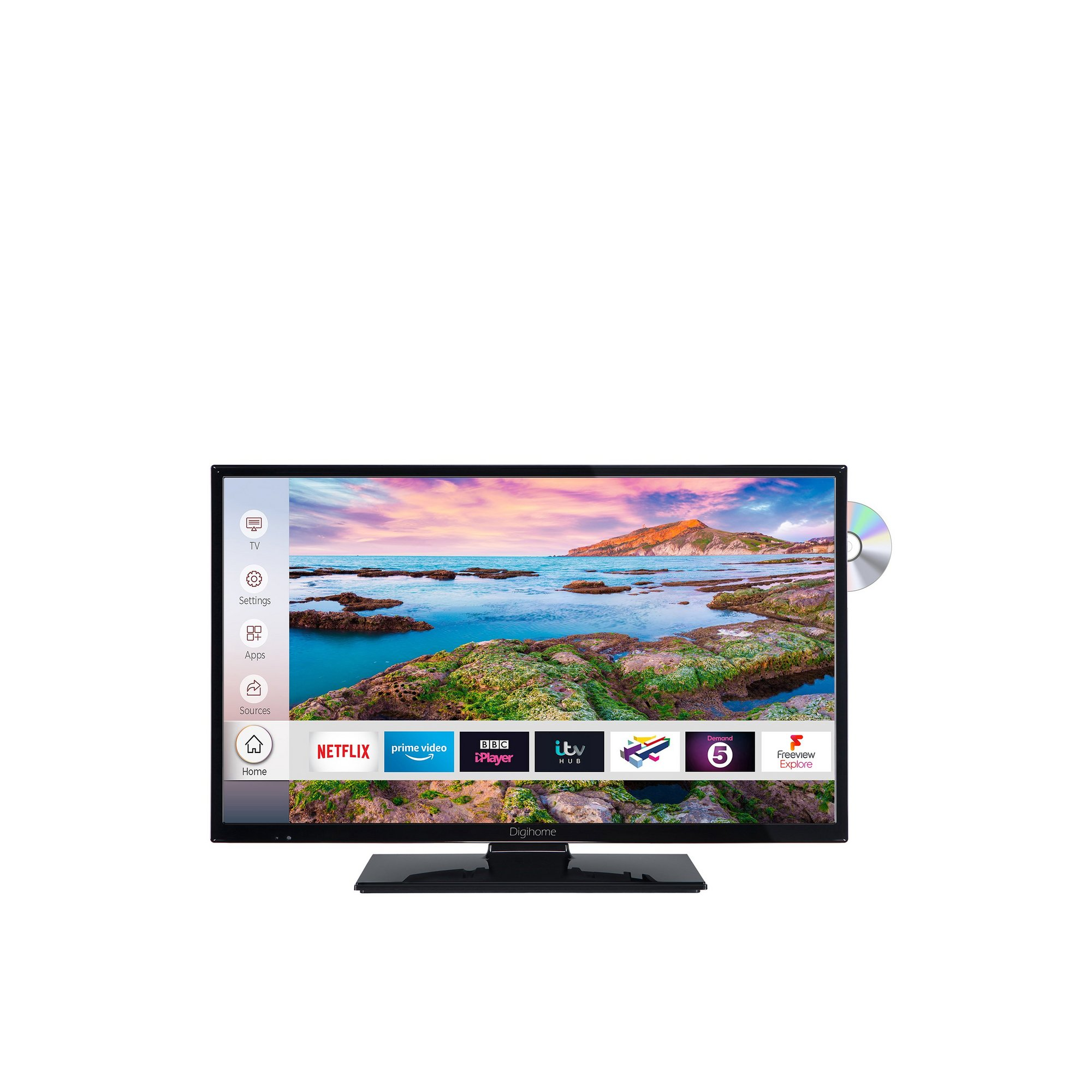 Image of Digihome 24 Inch 24287HDSMDVD HD Ready Smart TV/DVD