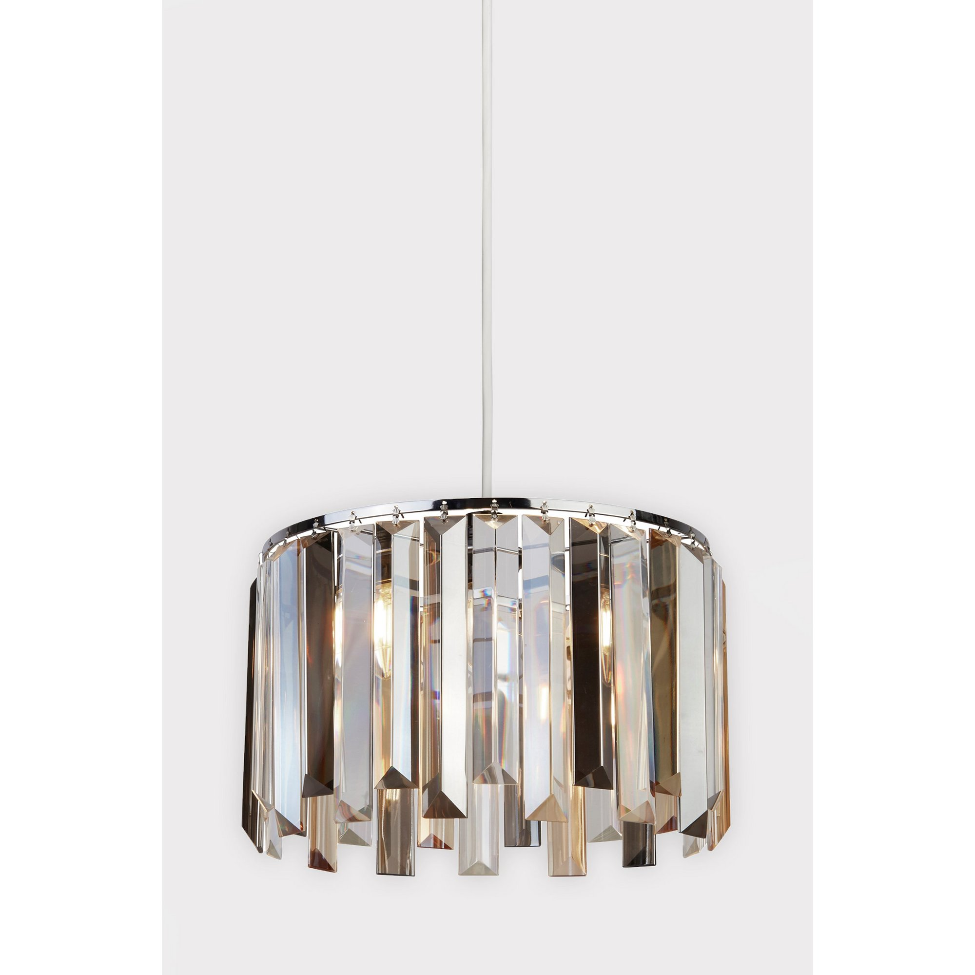 Image of Chrome Easy Fit Pendant with Glass Drops