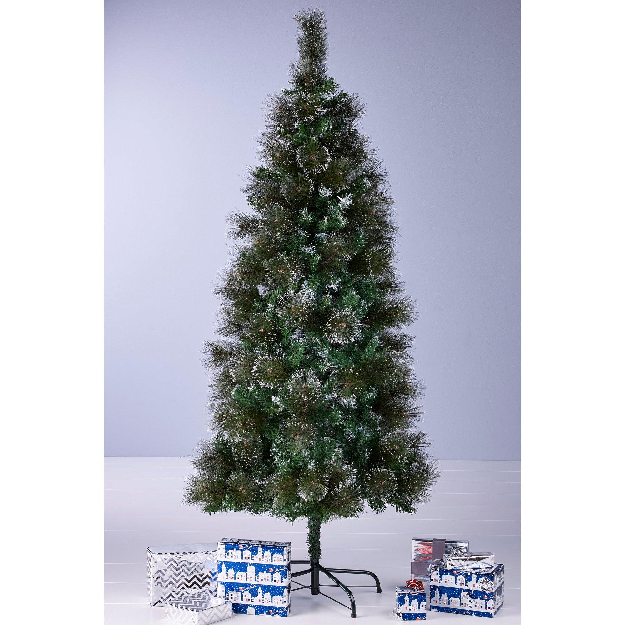 Image of Green Bushy Glitter Christmas Tree