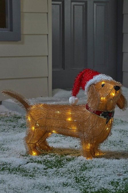 Image for LED Tinsel Dachshund from studio