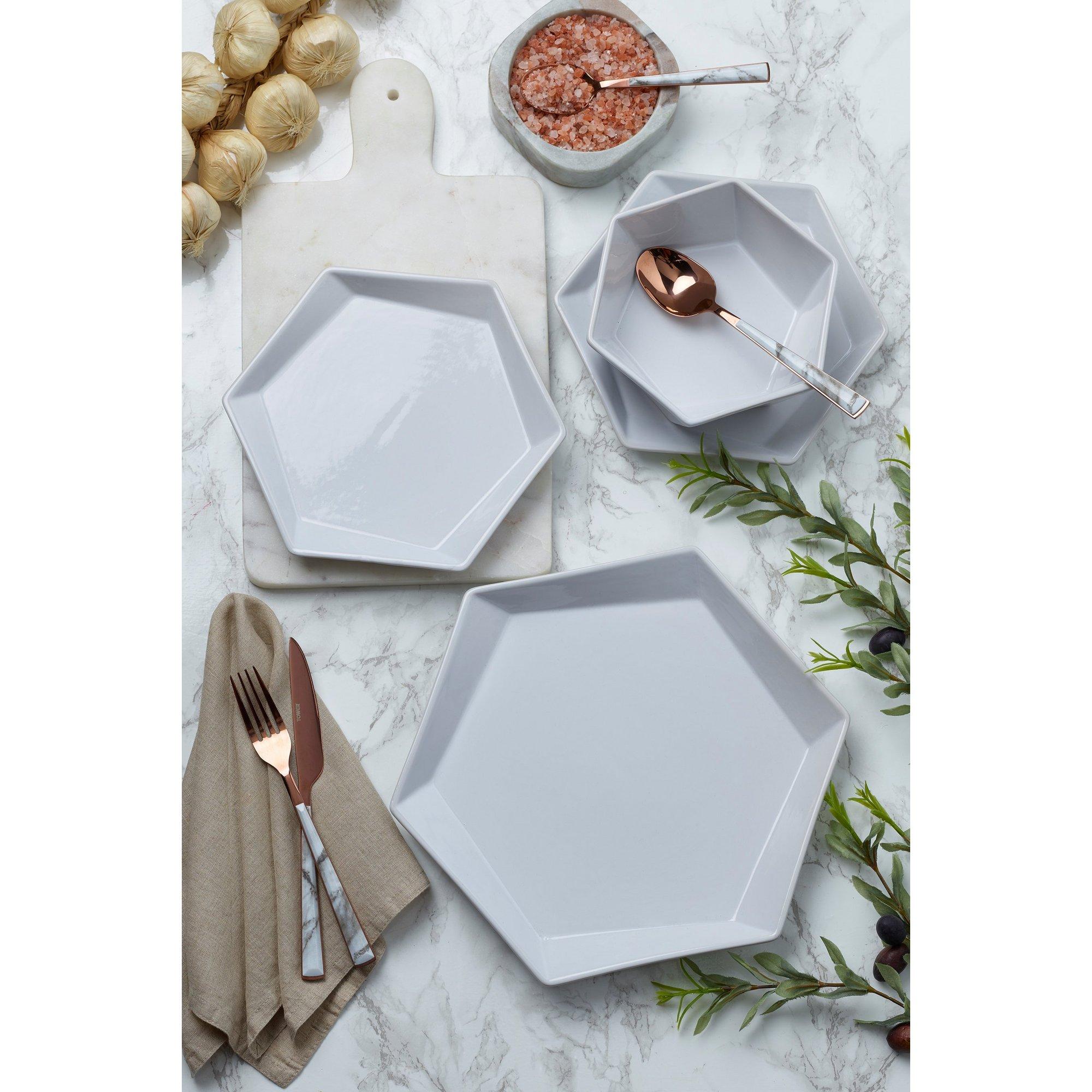 Image of 12-Piece Hexagonal Dinner Set