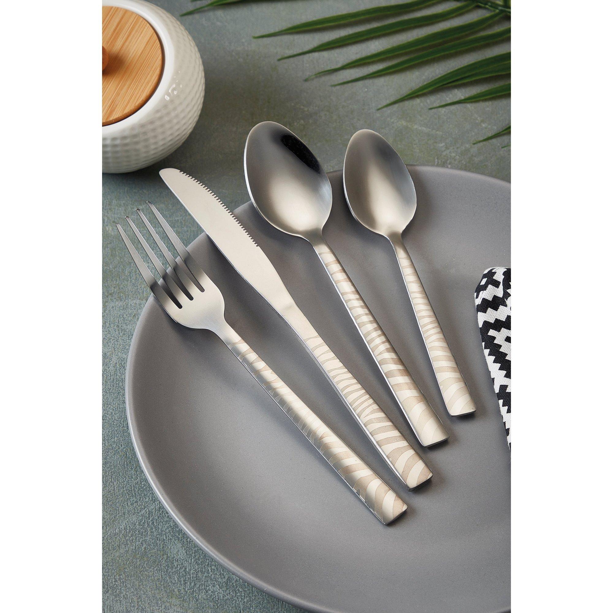 Image of 16-Piece Zebra Cutlery Set