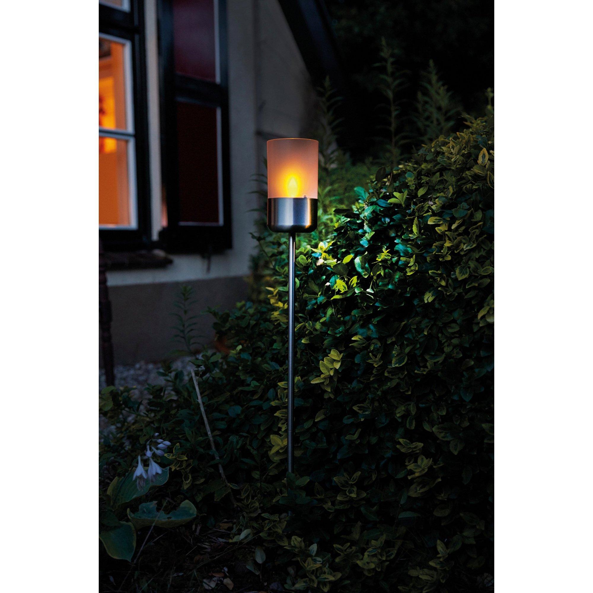 Image of Jamaica Solar Garden Spike Light in Stainless Steel