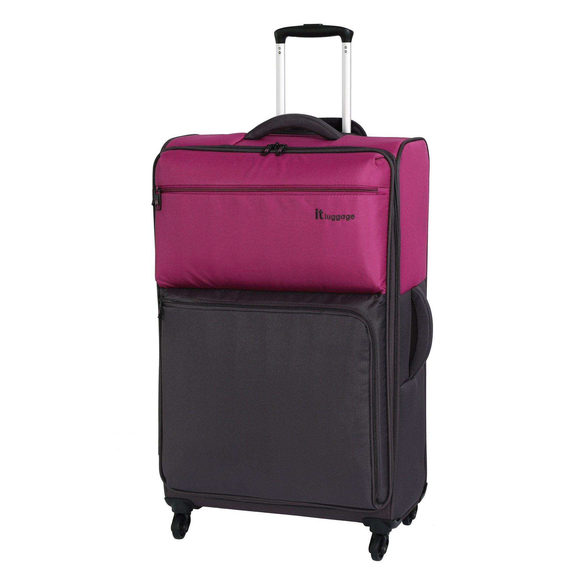 Image of IT Luggage Duo Tone 4 Wheel Magenta Suitcase