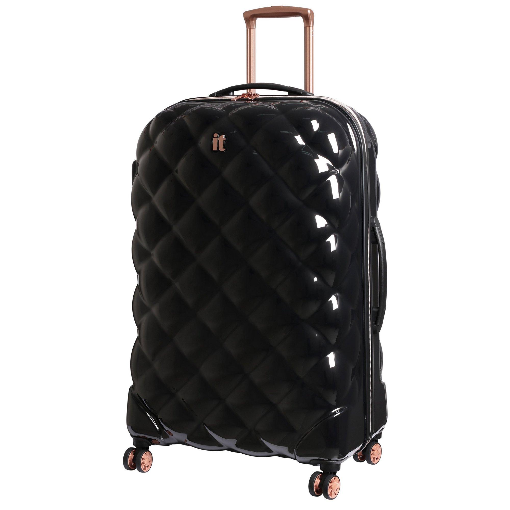 Image of IT Luggage St. Tropez Deux 8 Wheel Black Expander Suitcase