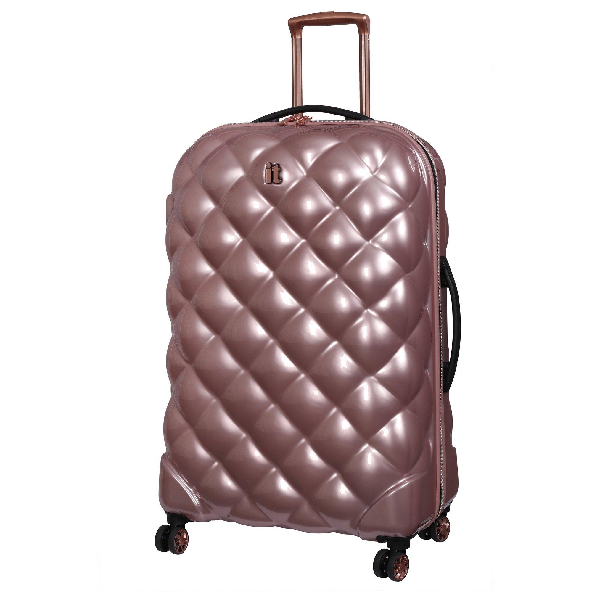 Image of IT Luggage St. Tropez Deux 8 Wheel Rose Gold Expander Suitcase