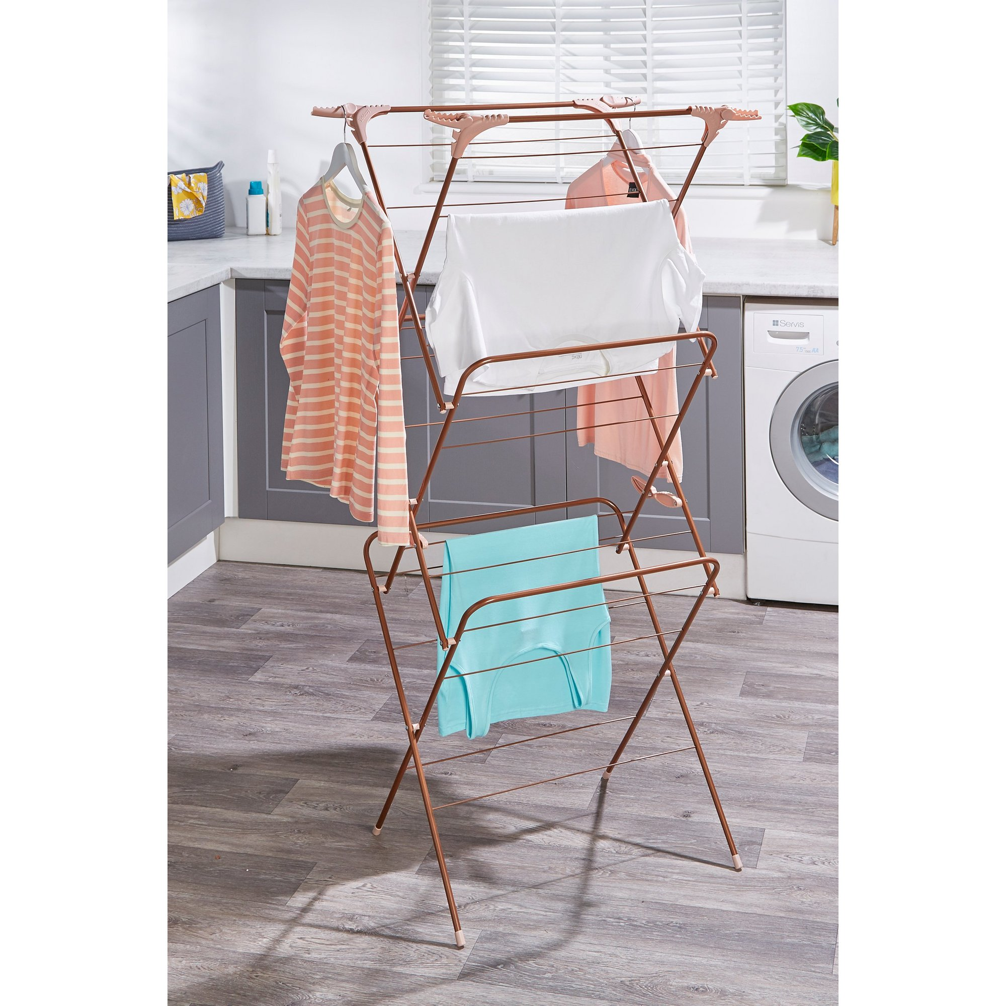 Image of Beldray Rose Gold 3-Tier Airer