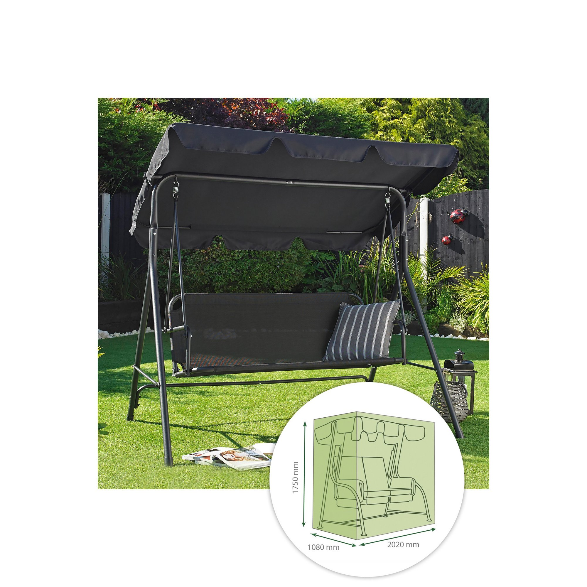 Image of 2 Seater Swing Bench Cover