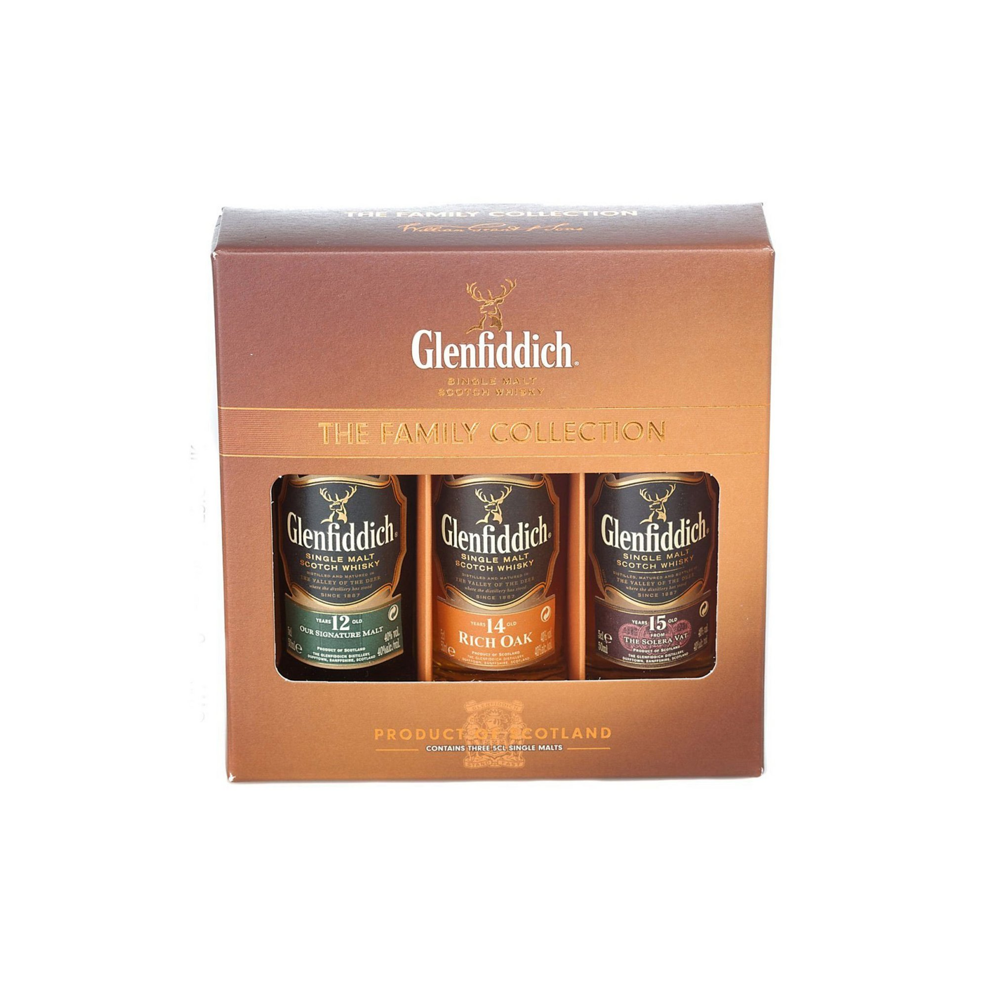 Image of Glenfiddich The Family Collection Scotch Whisky Gift Set