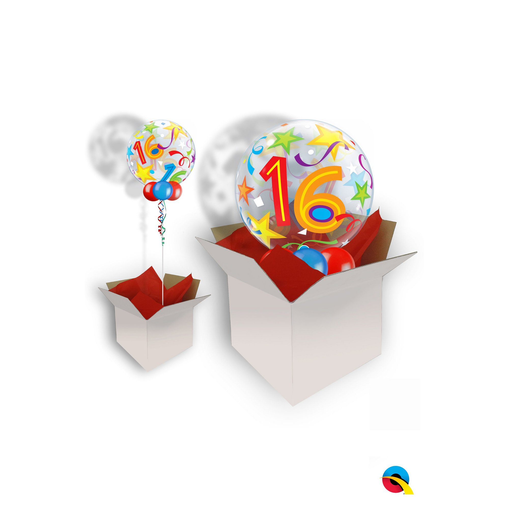 Image of 16th Birthday Brilliant Stars Bubble Balloon