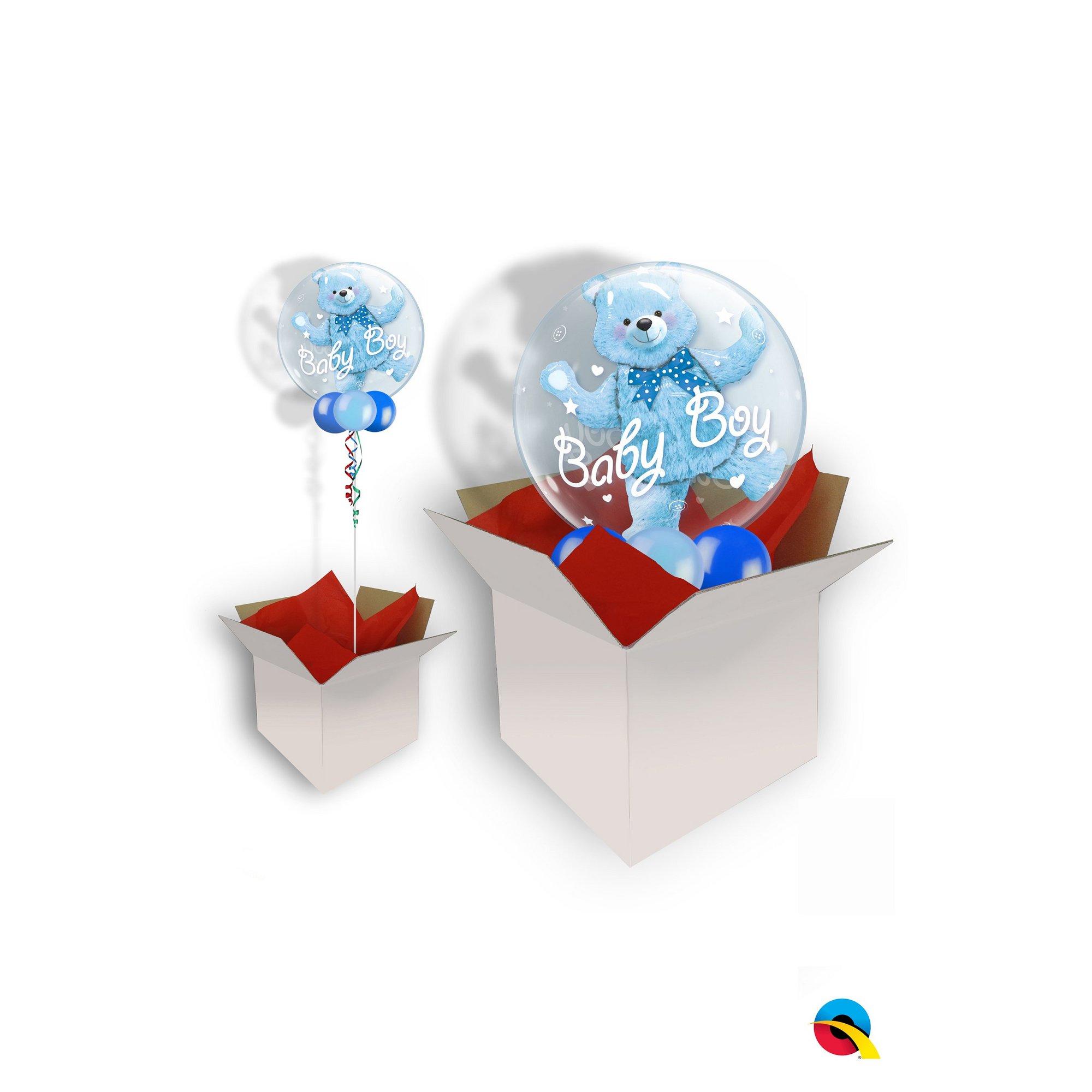 Image of Baby Boy Bear Double Bubble Balloon