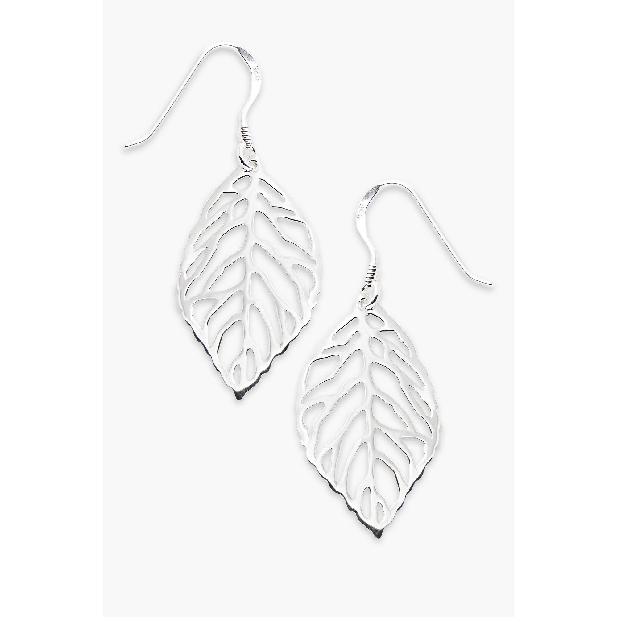 Image of Beginnings Cut Out Leaf Drop Earrings