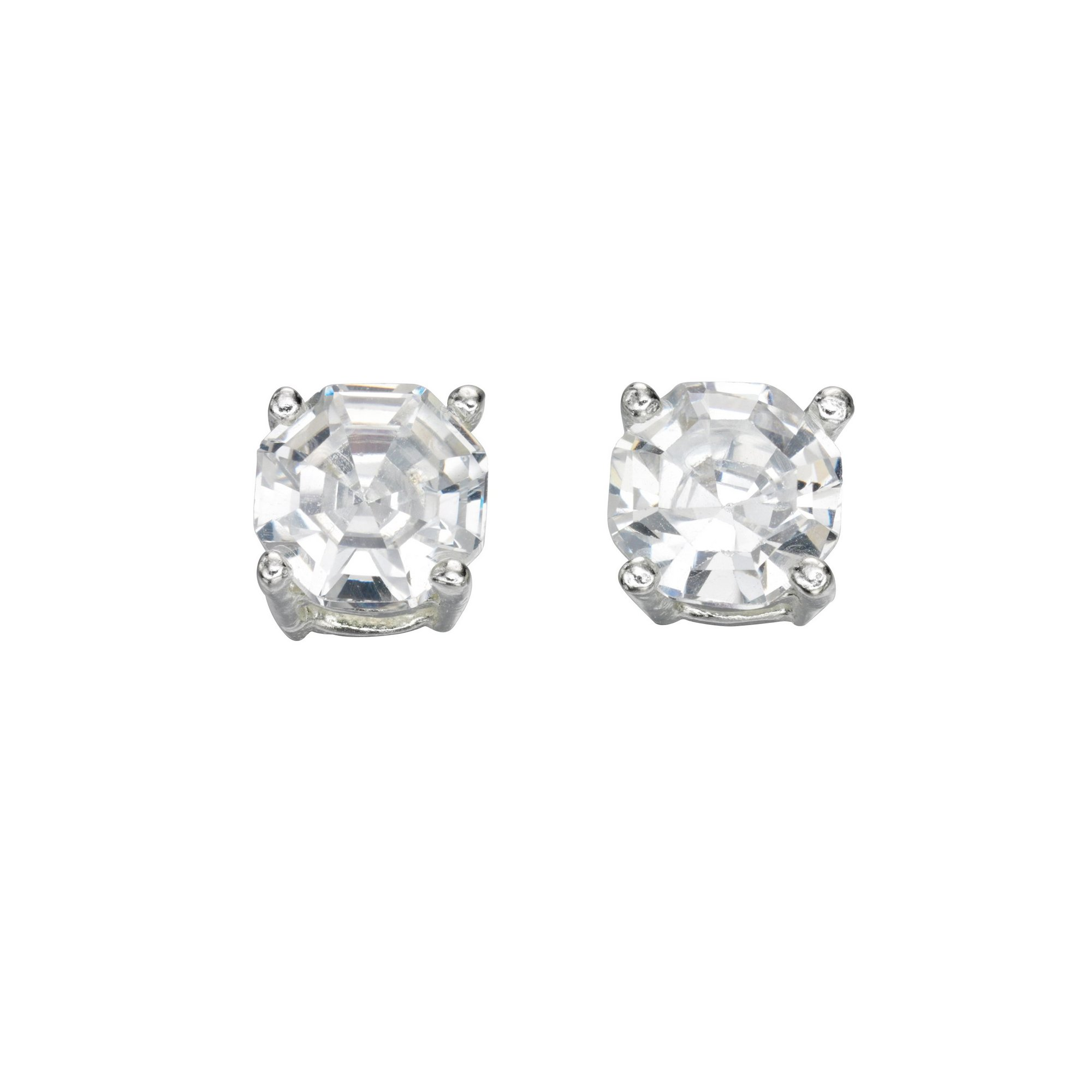 Image of Beginnings Clear CZ Faceted Stud Earrings