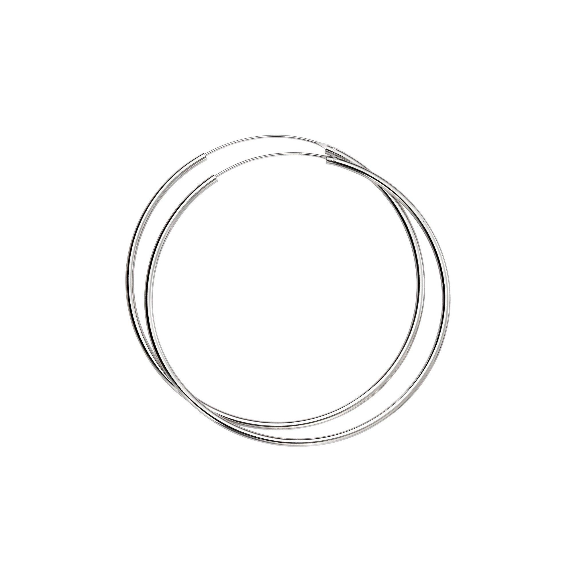 Image of Beginnings 70mm Hoop Earrings