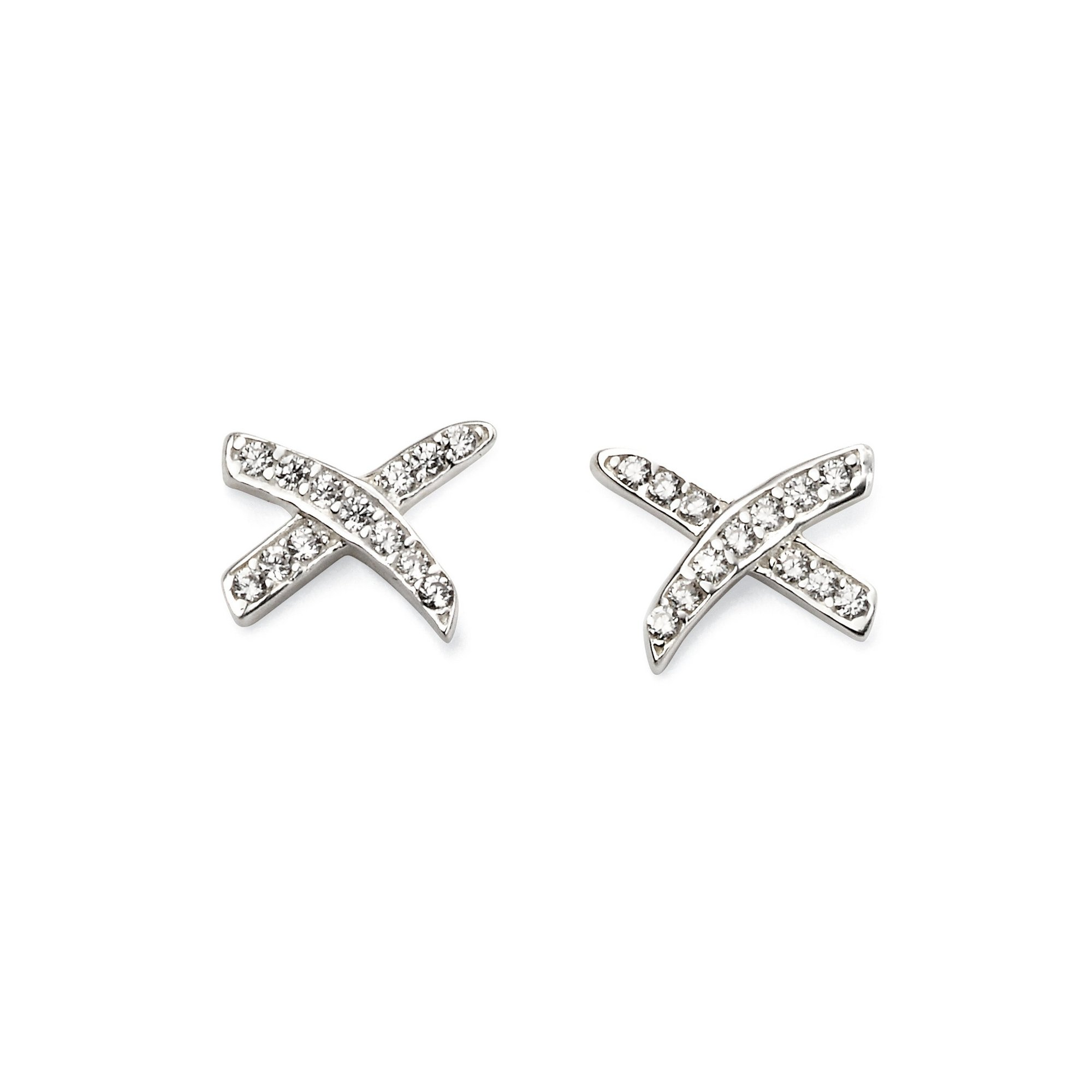 Image of Beginnings CZ Kiss Earrings