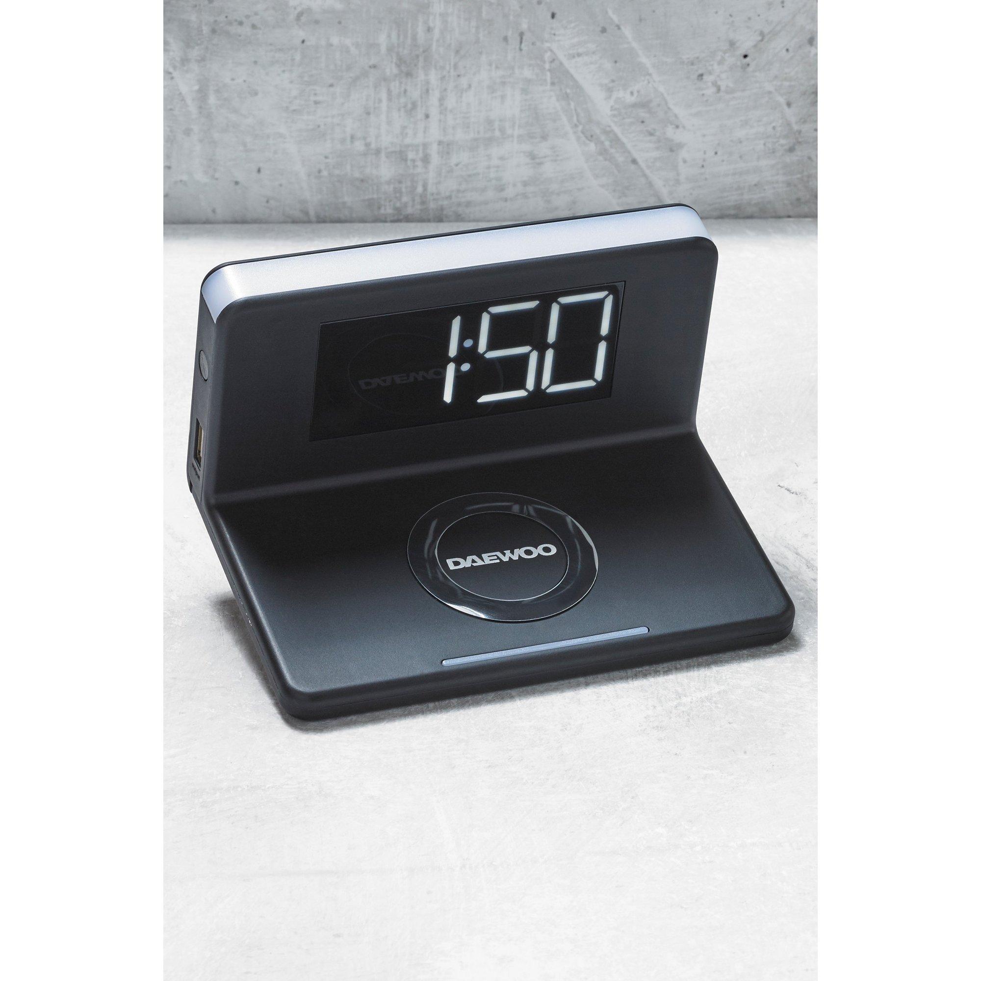 Image of Daewoo QI Wireless Charging Alarm Clock