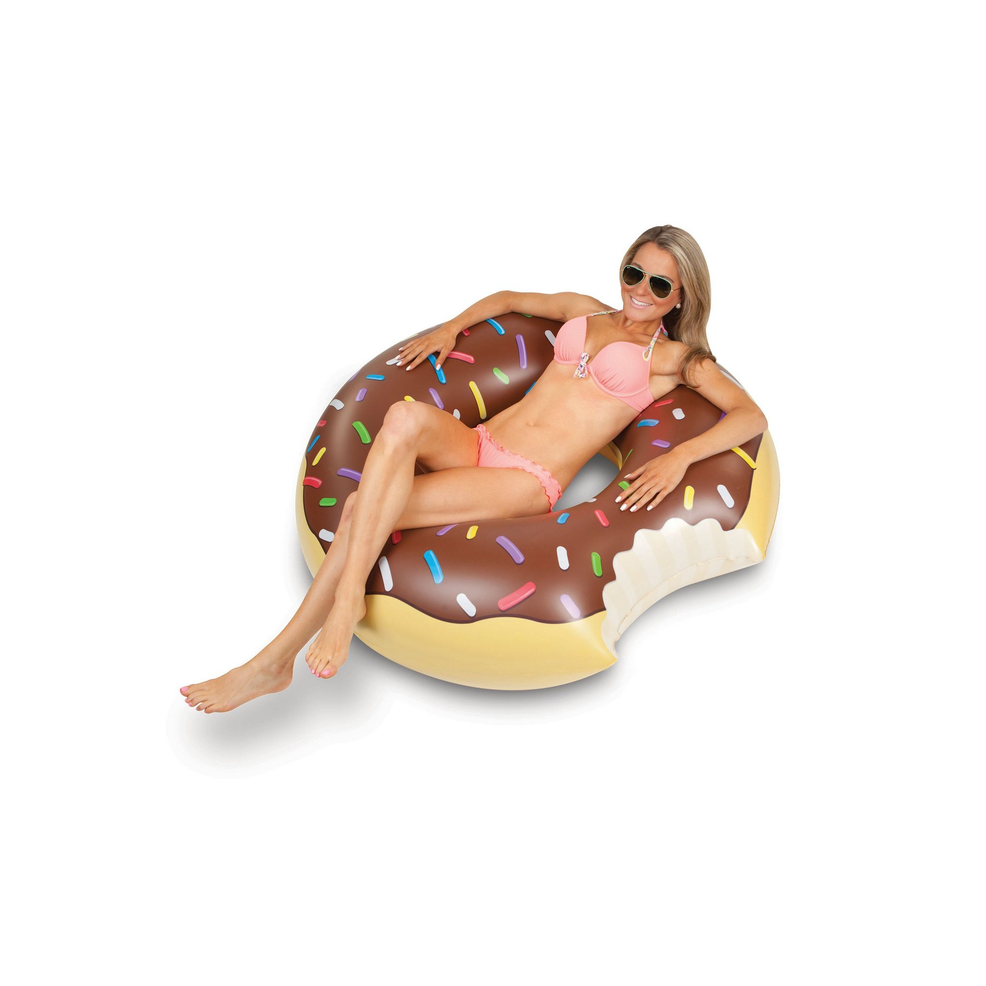 Image of Giant Chocolate Frosted Donut Pool Float