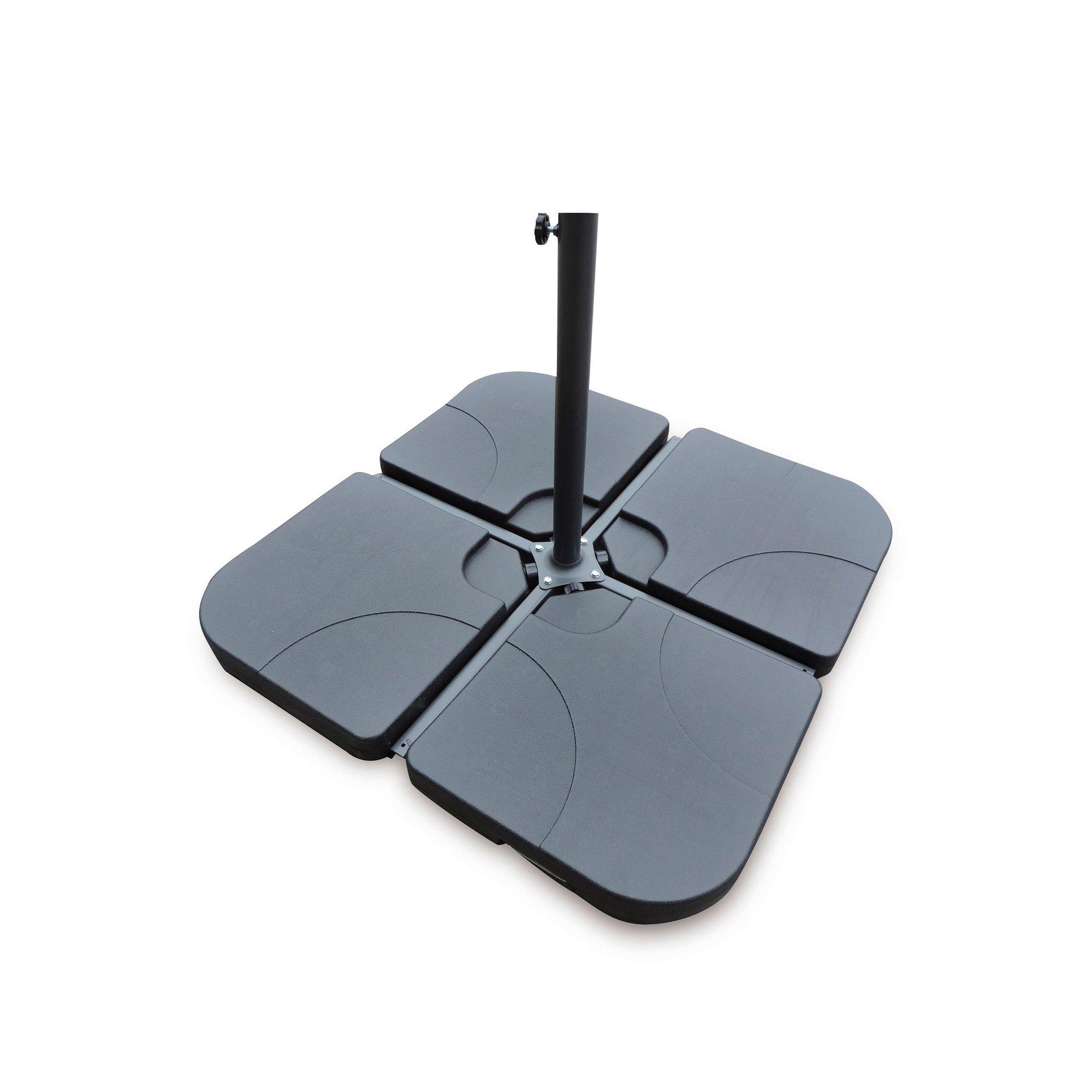 Image of 4-Piece Square Cantilever Parasol Base