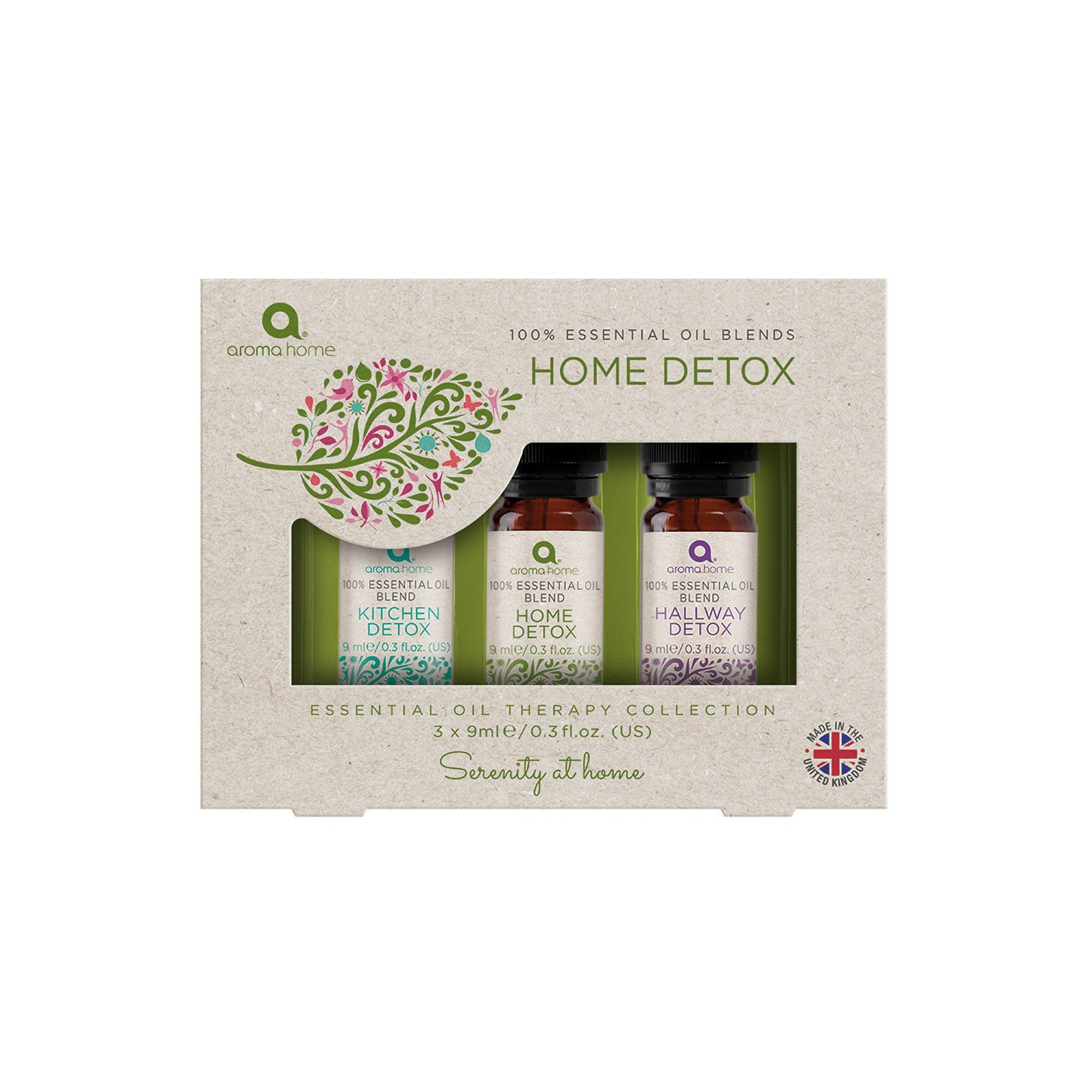 Image of Aroma Home Essentials Pack of 3 Detox Blend Oils