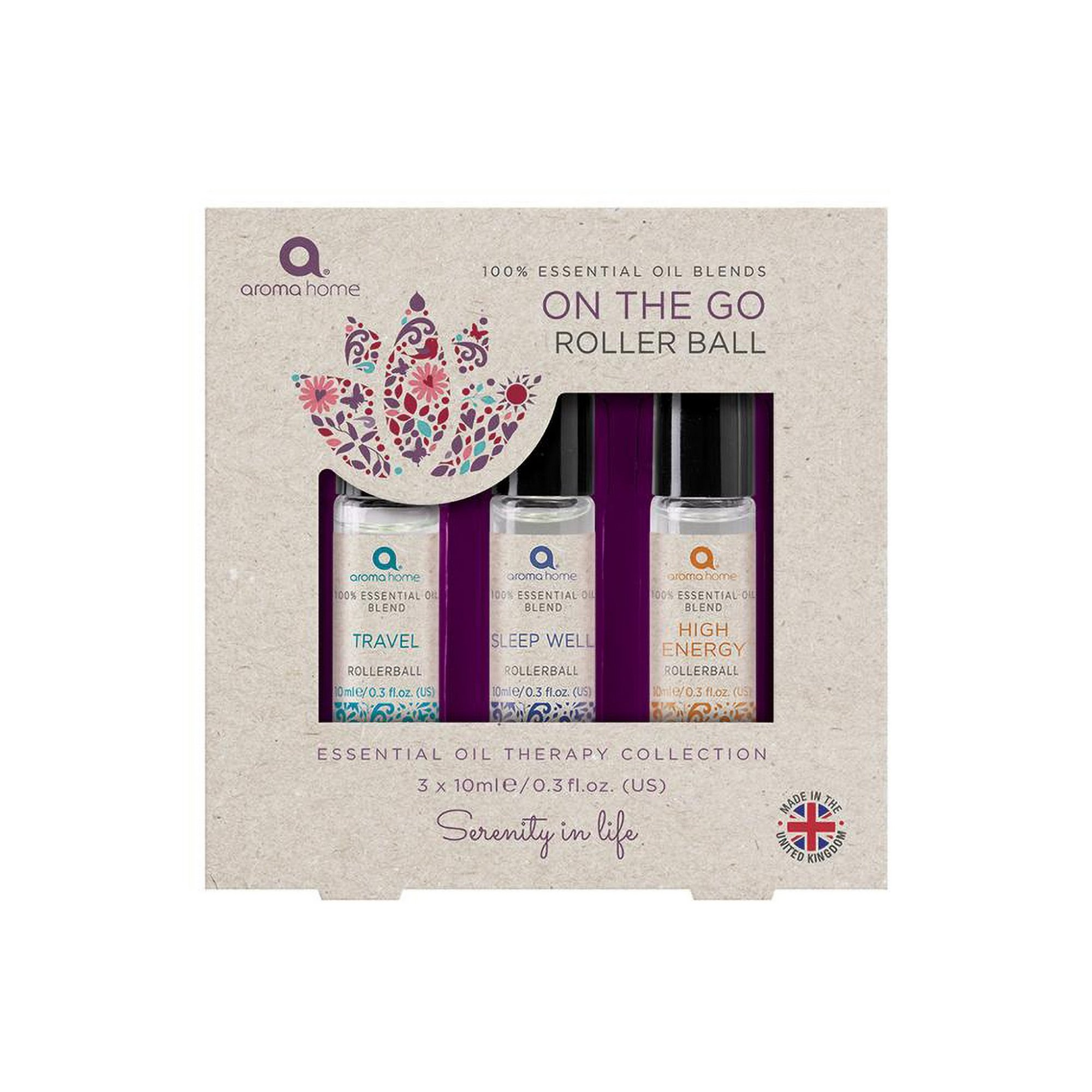 Image of Aroma Home Essentials Pack of 3 On the Go Rollerball Blend Oils