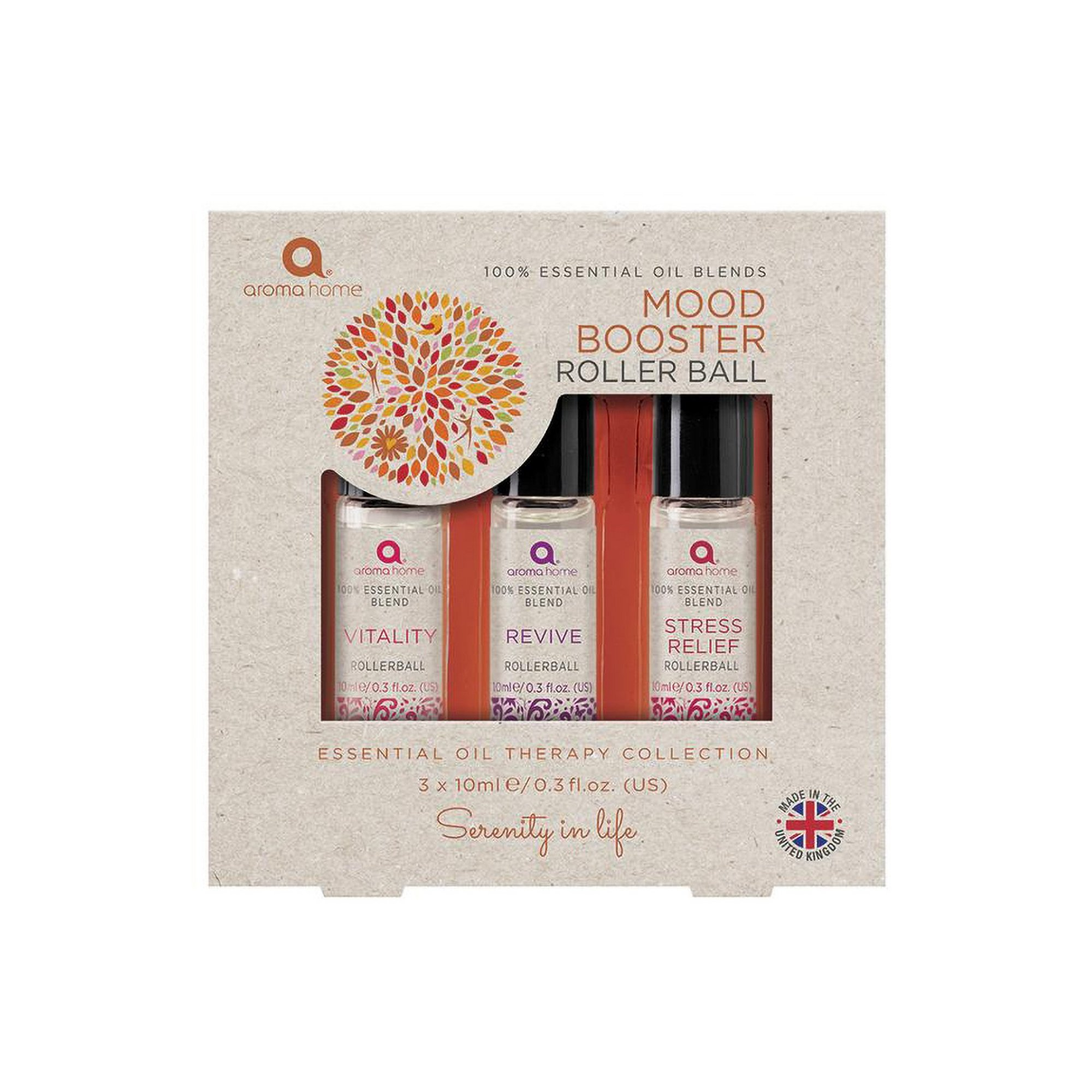 Image of Aroma Home Essentials Pack of 3 Mood Booster Rollerball Blend Oils