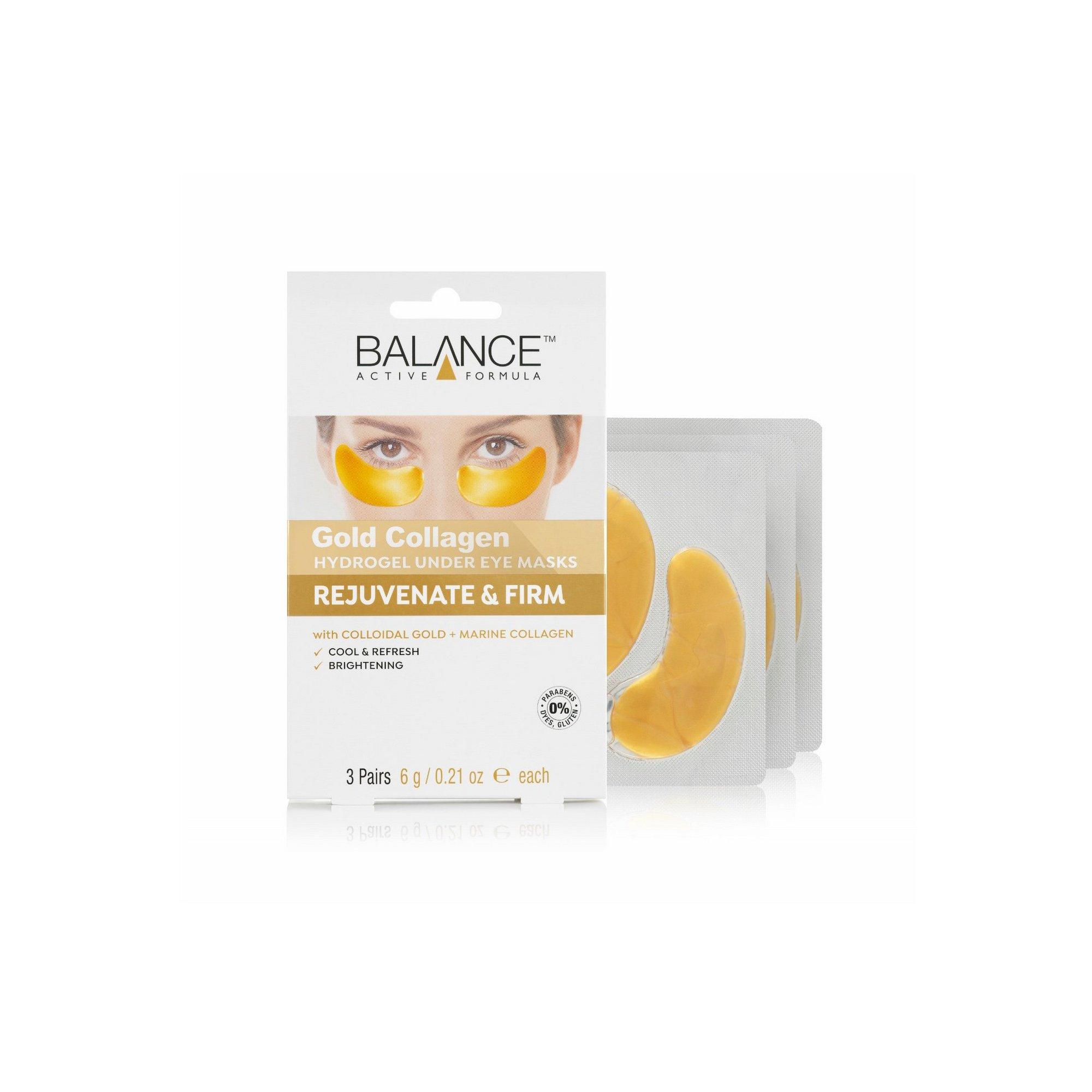 Image of Balance Pack of 3 Gold Collagen Hydro Gel Under Eye Masks