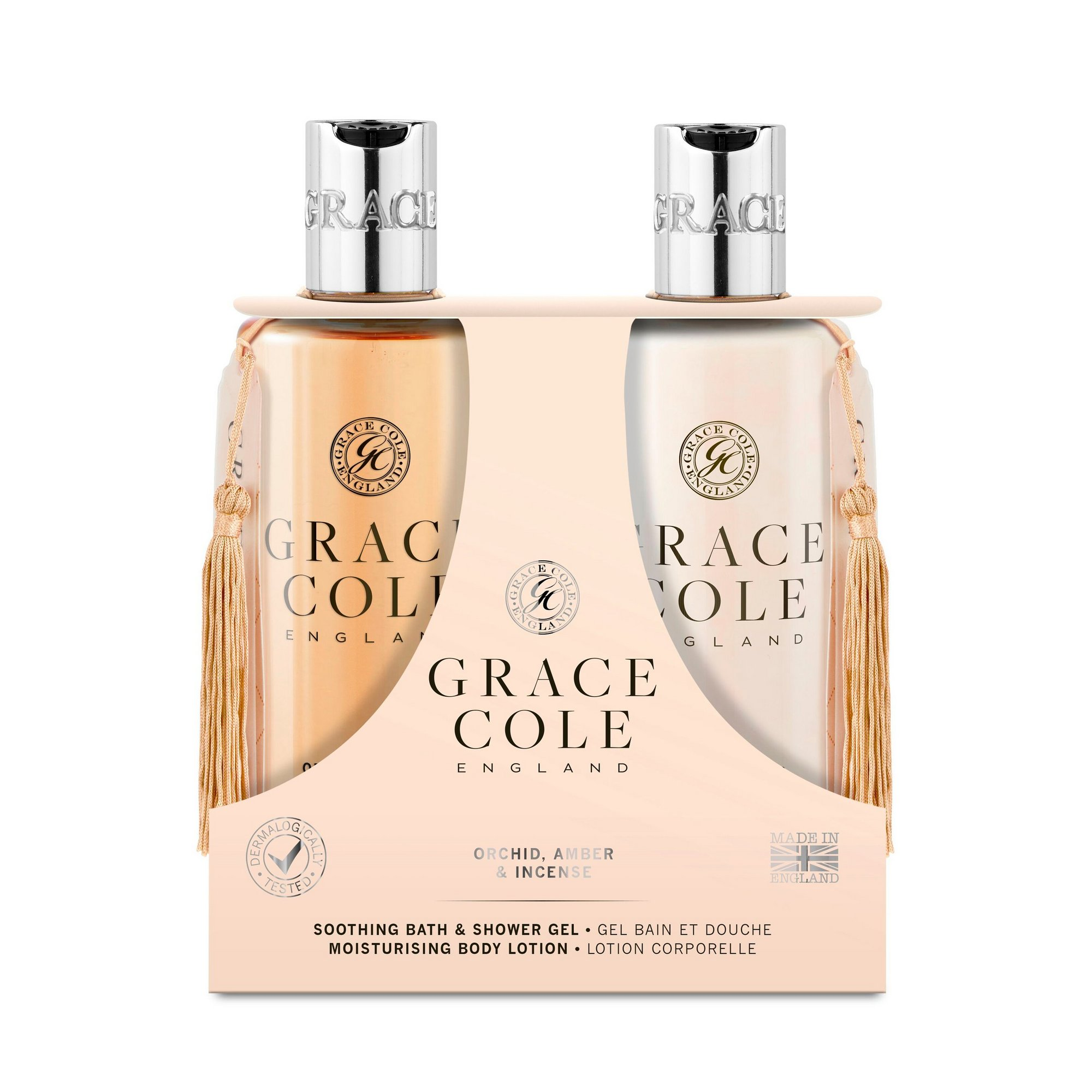 Image of Grace Cole Body Care Orchid + Amber and Incense Duo Pack
