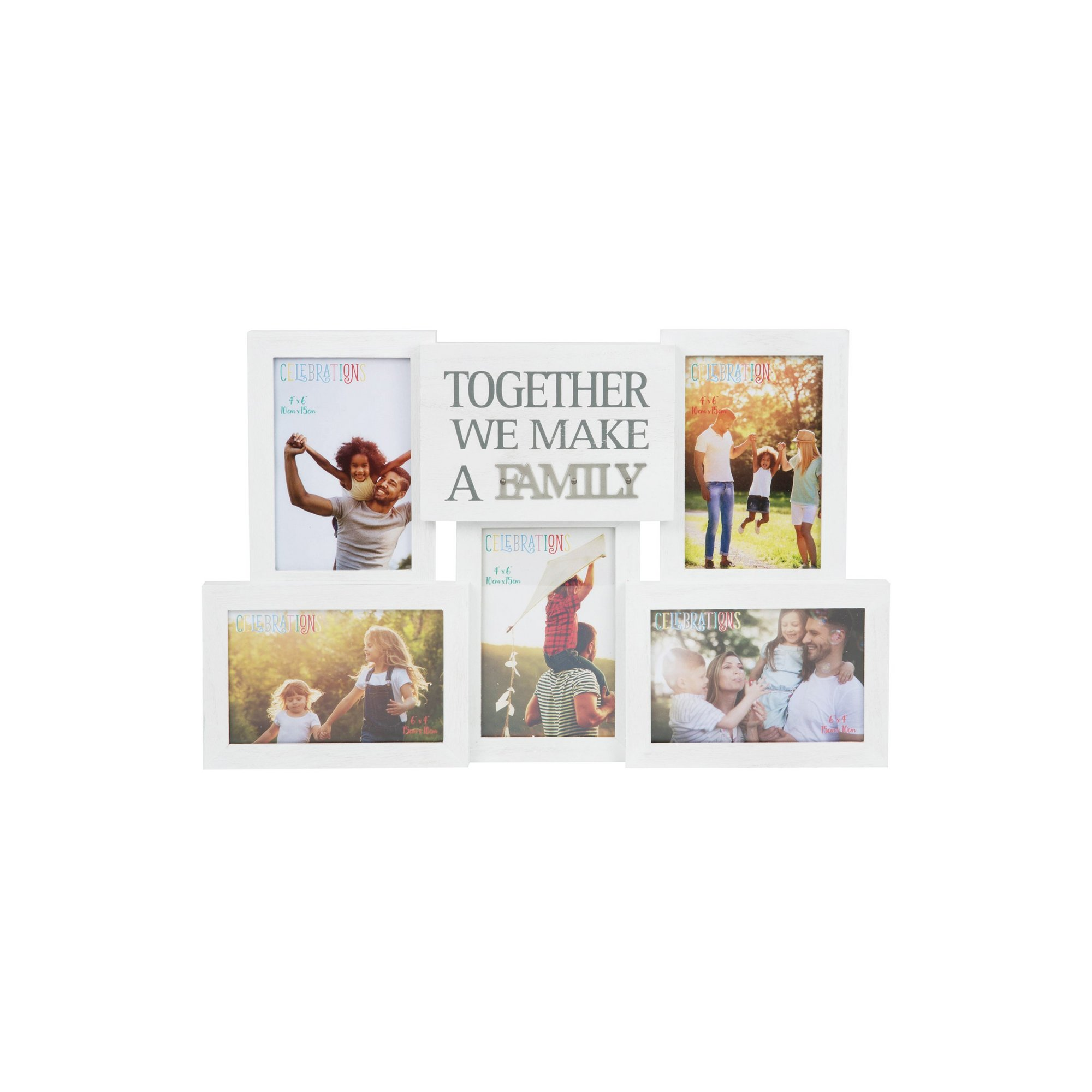 Image of Collage Photo Frame with Metal Words - Family