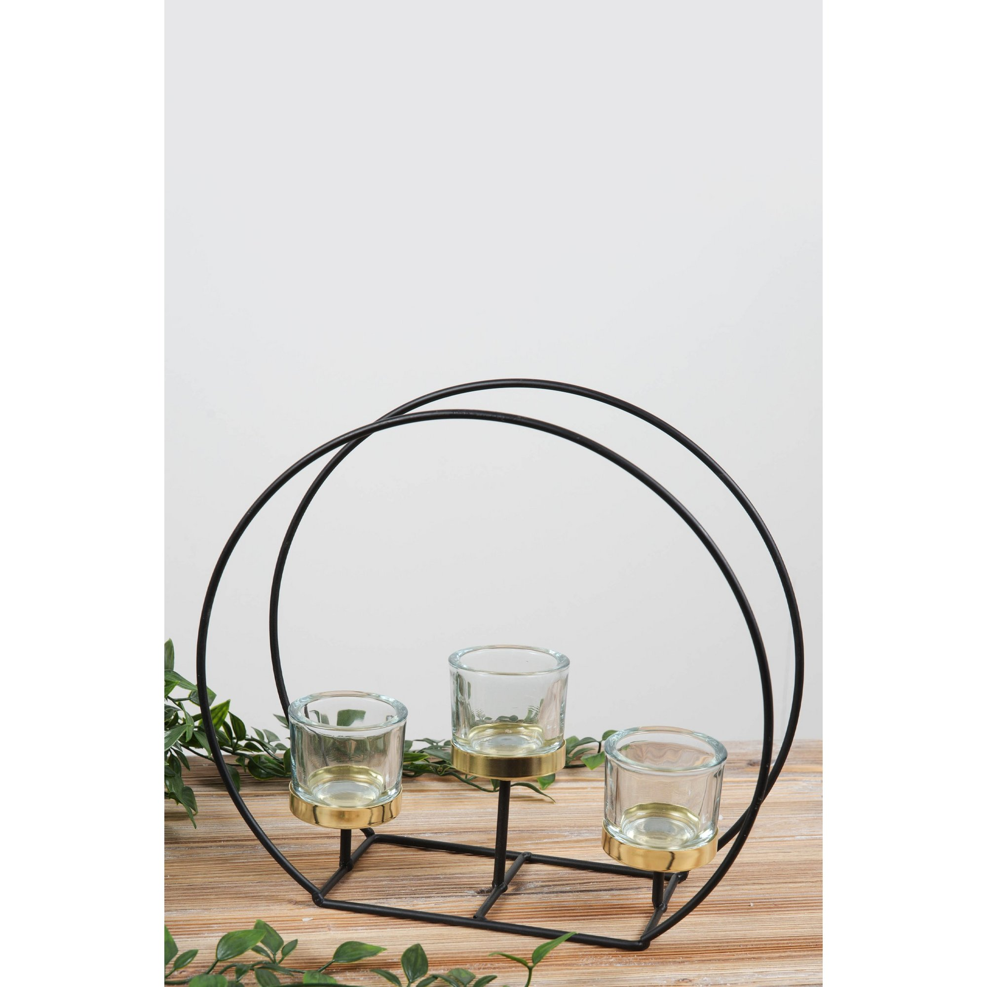 Image of Glass Tealight Holder on Round Stand